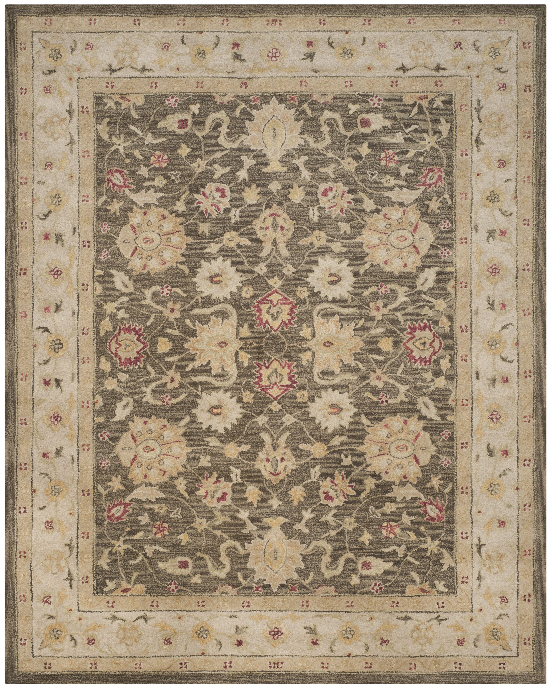 Tinley Hand-Tufted Wool Olive Gray Area Rug Rug Size: Rectangle 9'6