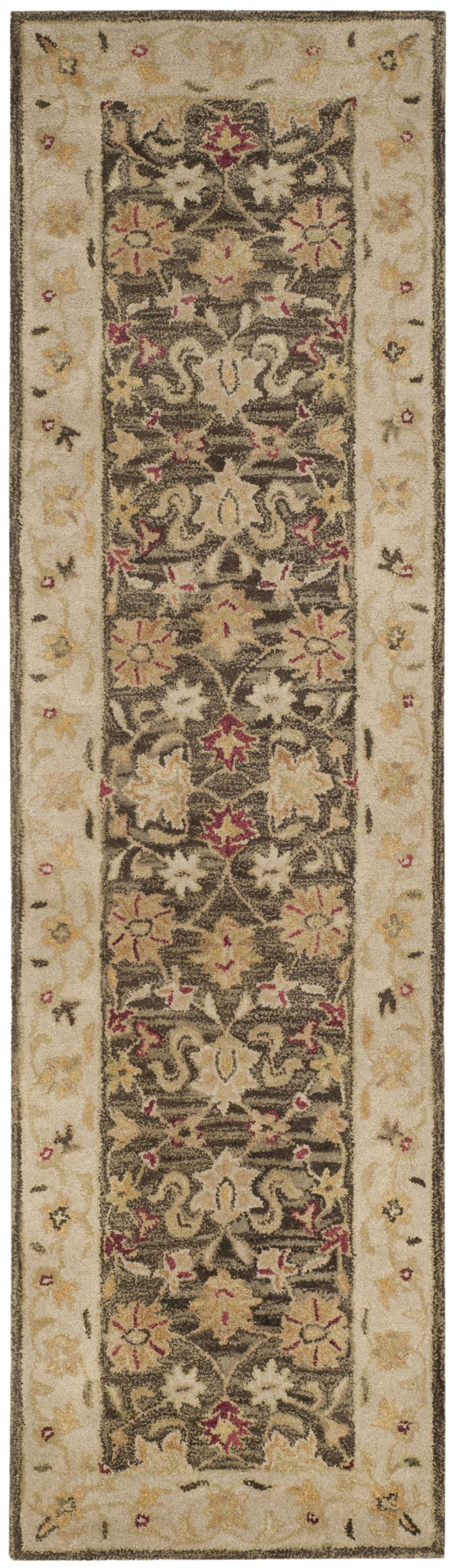 Tinley Hand-Tufted Wool Olive Gray Area Rug Rug Size: Runner 2'3