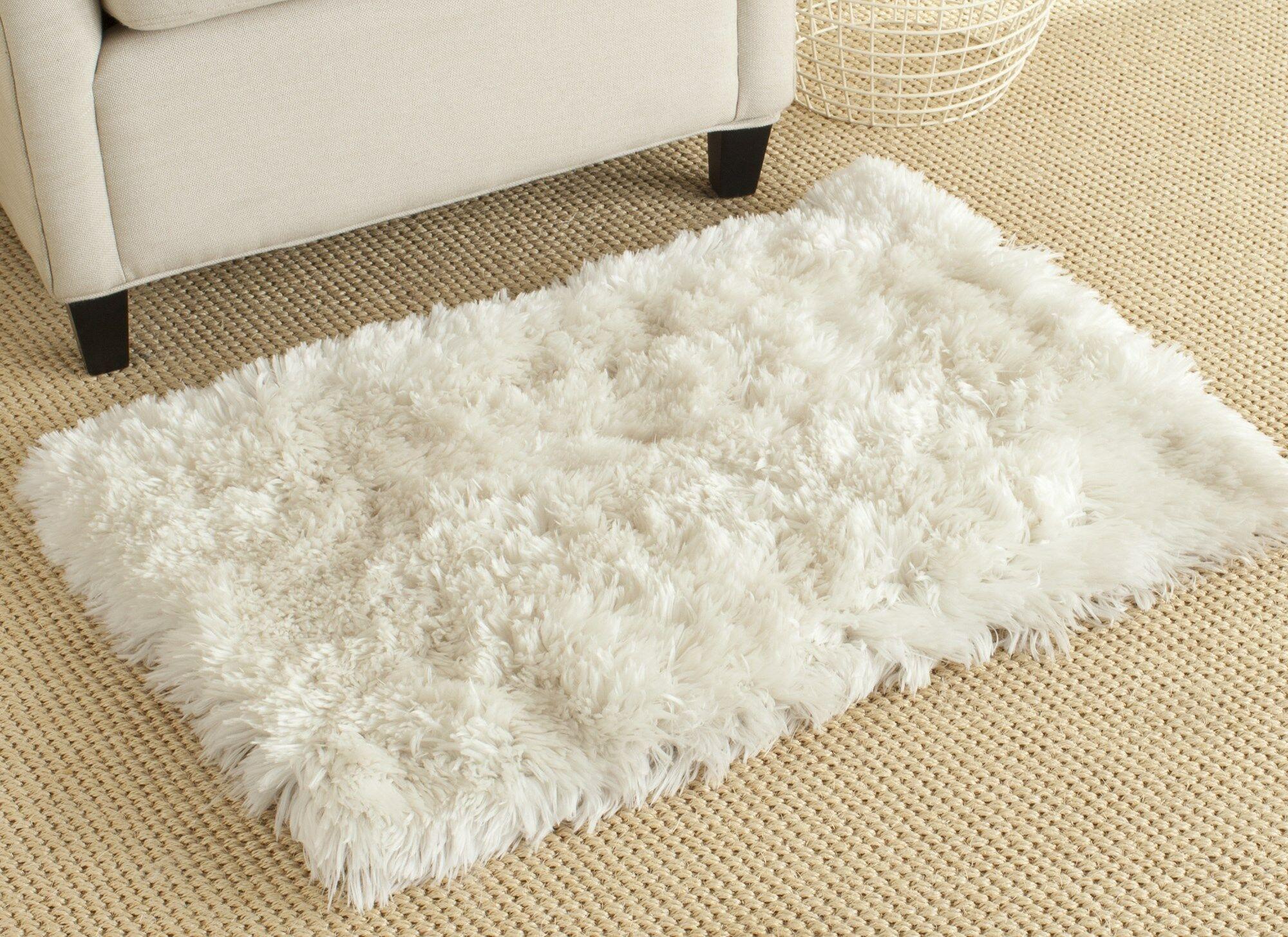 Hamlin Hand-Tufted White Area Rug Rug Size: Rectangle 4' X 6'