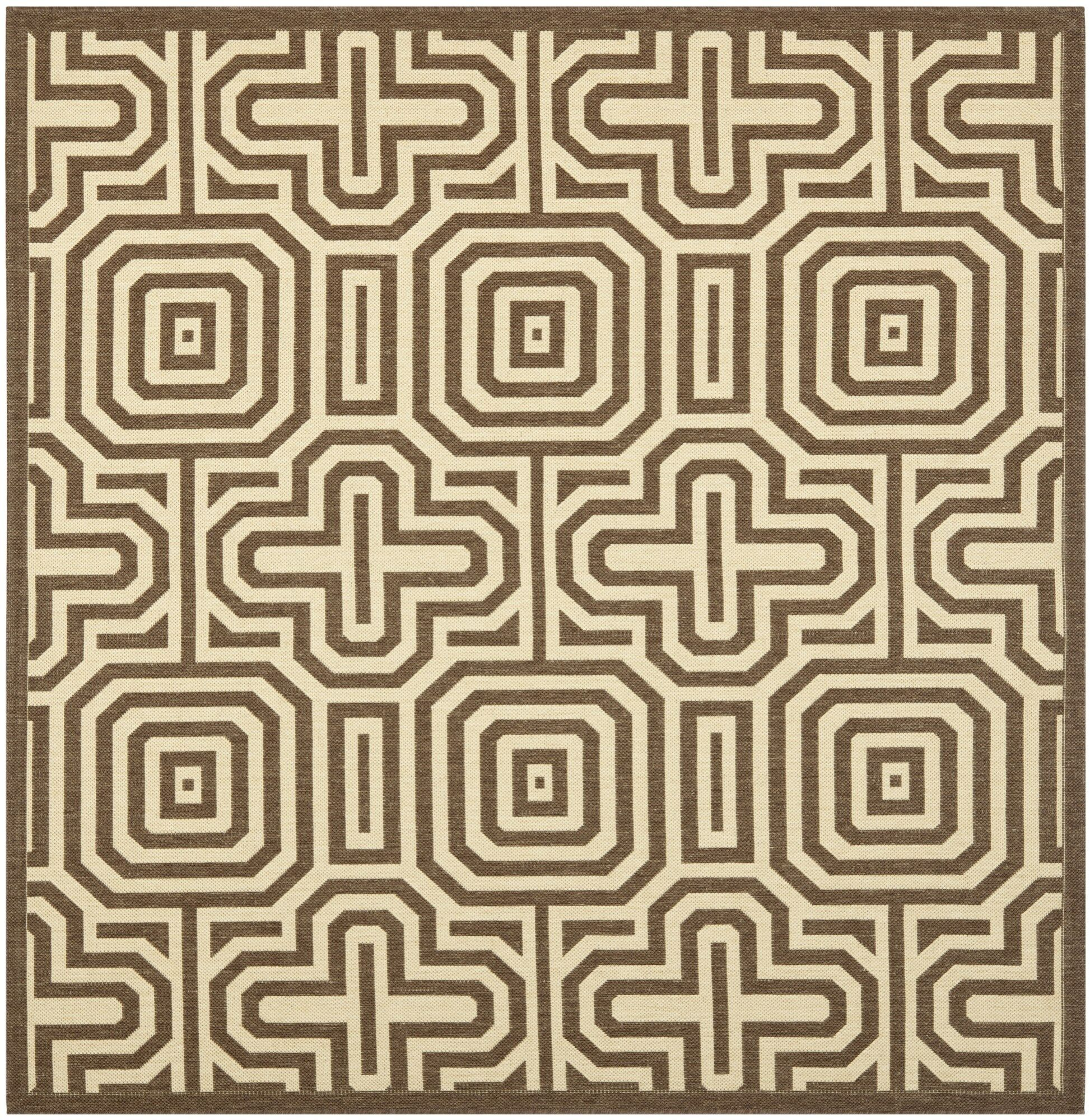 Jefferson Place Natural/Brown Indoor/Outdoor Area Rug Rug Size: Square 6'7