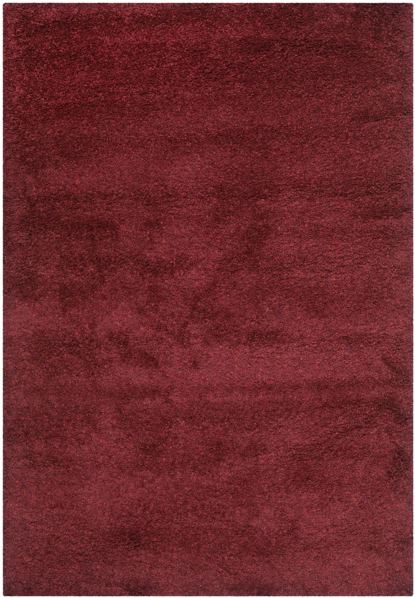 Psyche Shag Maroon Area Rug Rug Size: Rectangle 5'3