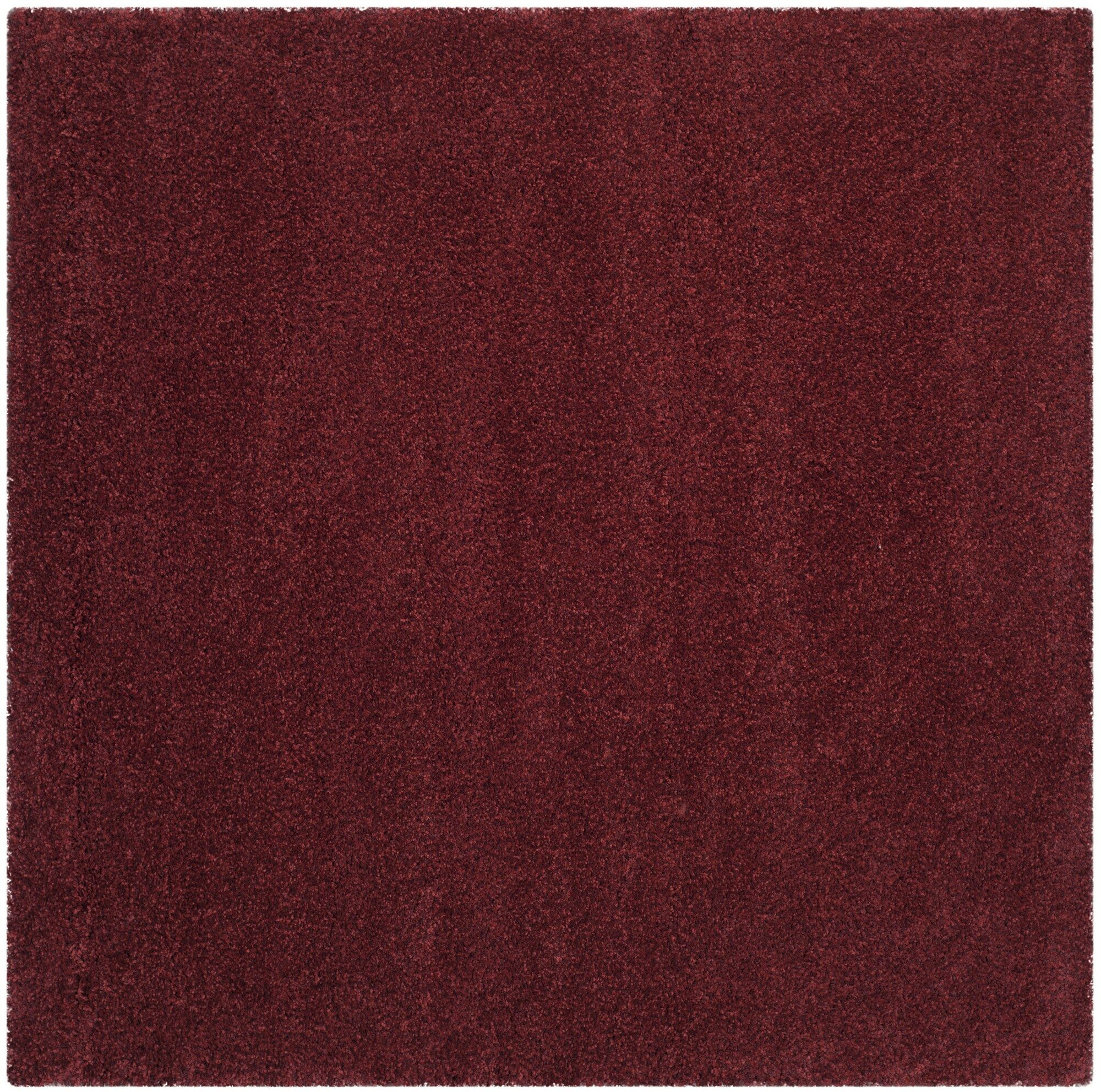 Psyche Shag Maroon Area Rug Rug Size: Square 6'7