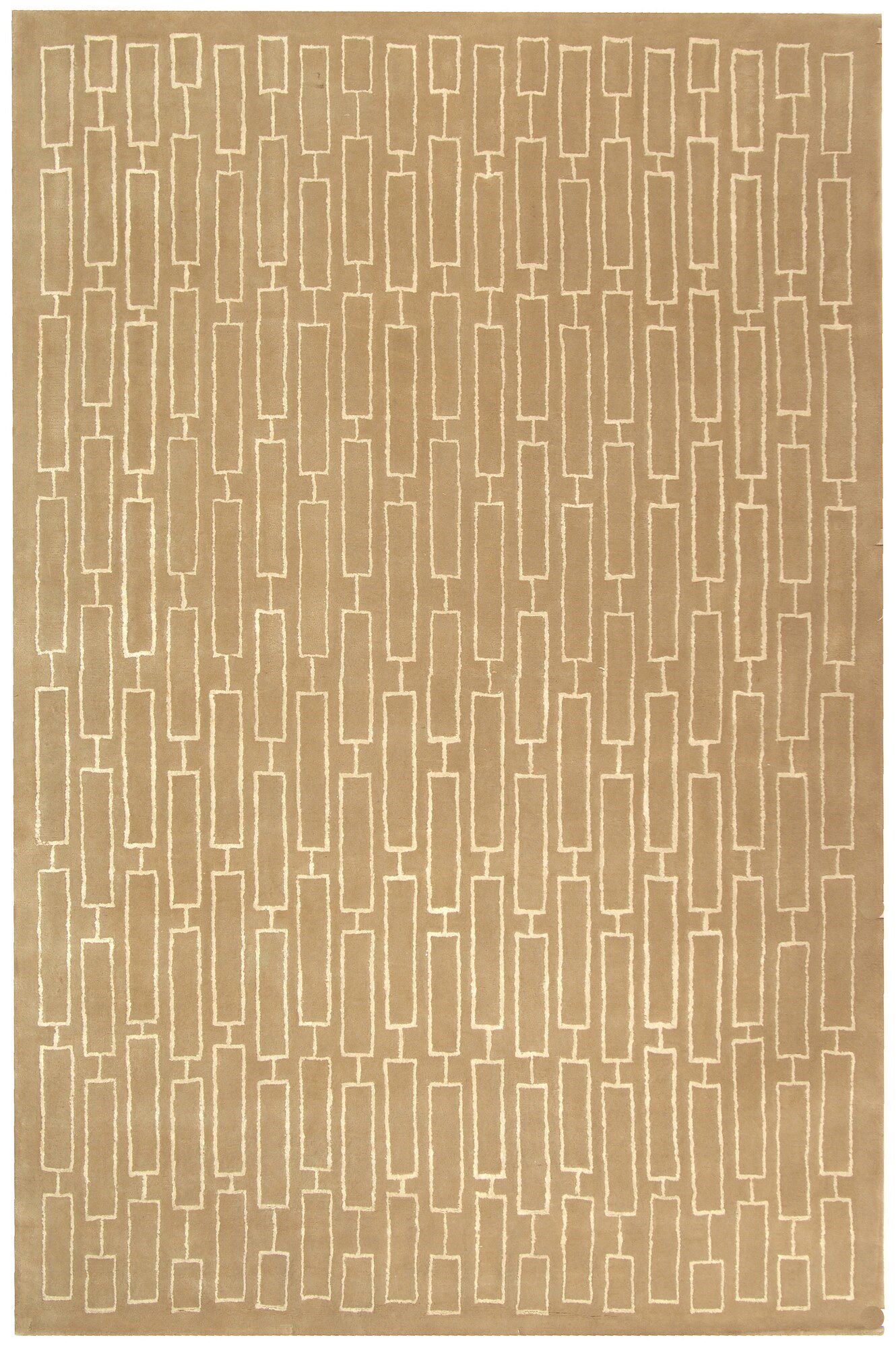 Scotchmann Hand Tufted Wool Tan Area Rug Rug Size: Rectangle 8' x 10'