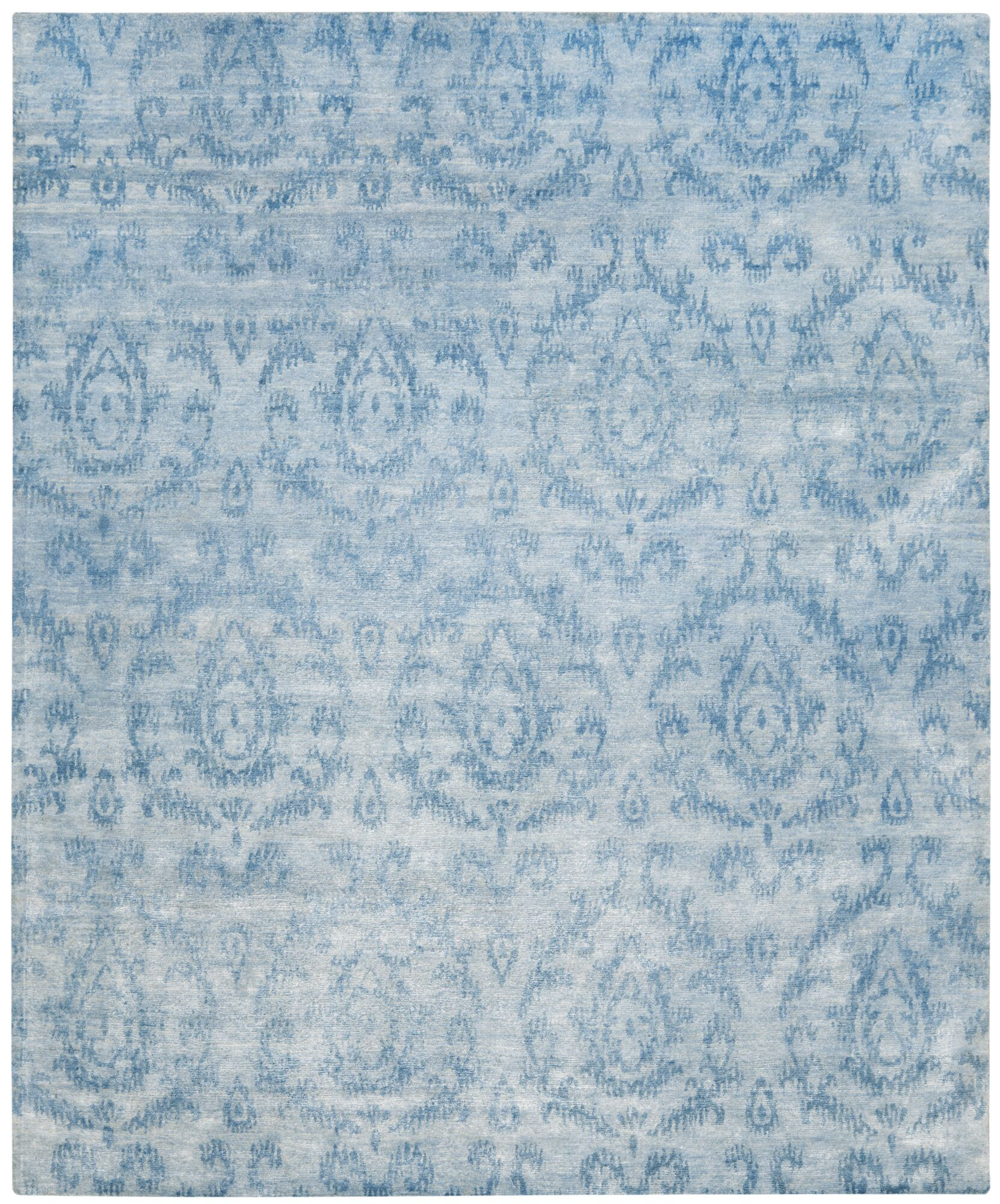 Vizcaino Tibetan Hand Knotted Sky Area Rug Rug Size: Rectangle 8' x 10'