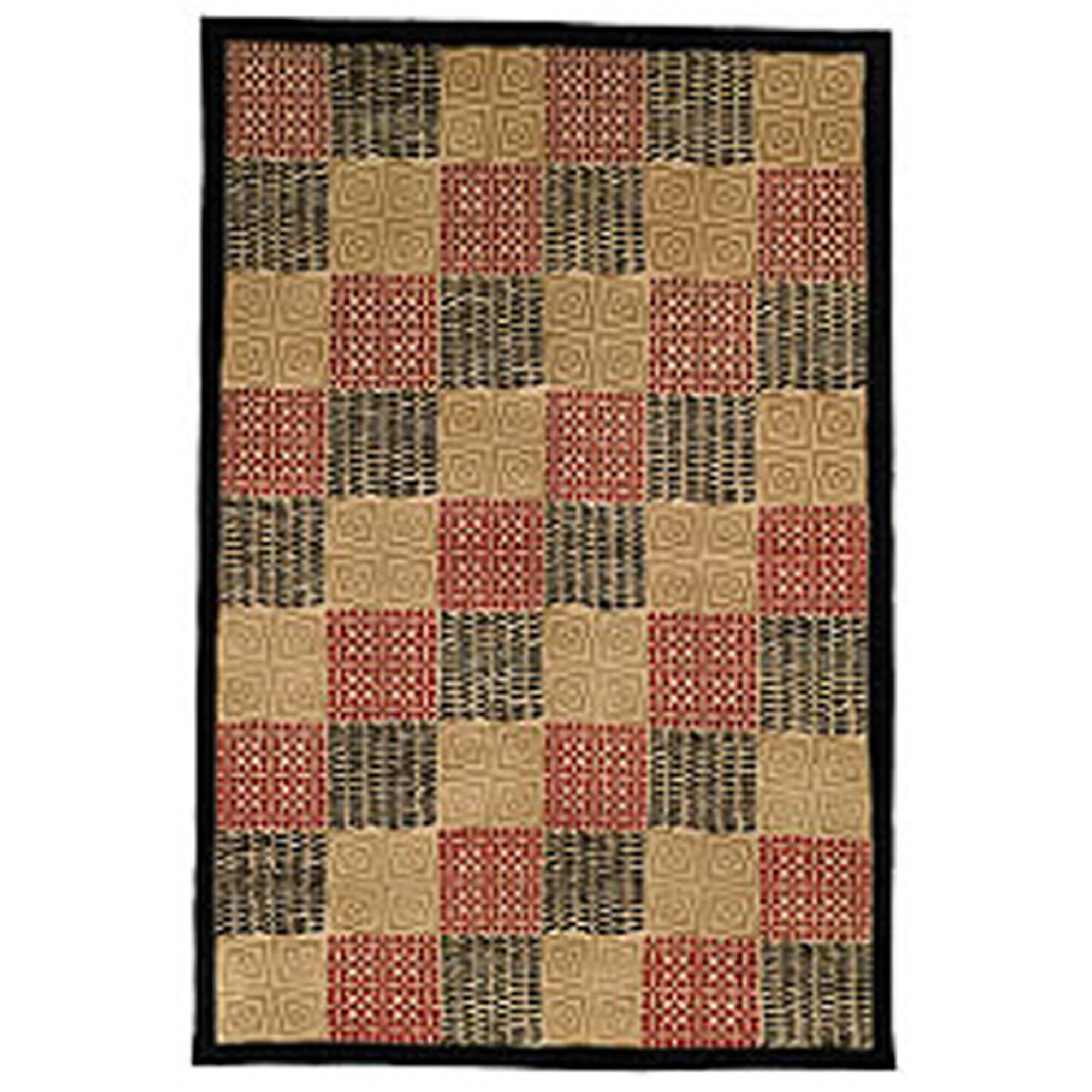 Youmans Tibetan Hand Knotted Silk/Wool Black/Rust Area Rug Rug Size: Rectangle 5' x 7'6