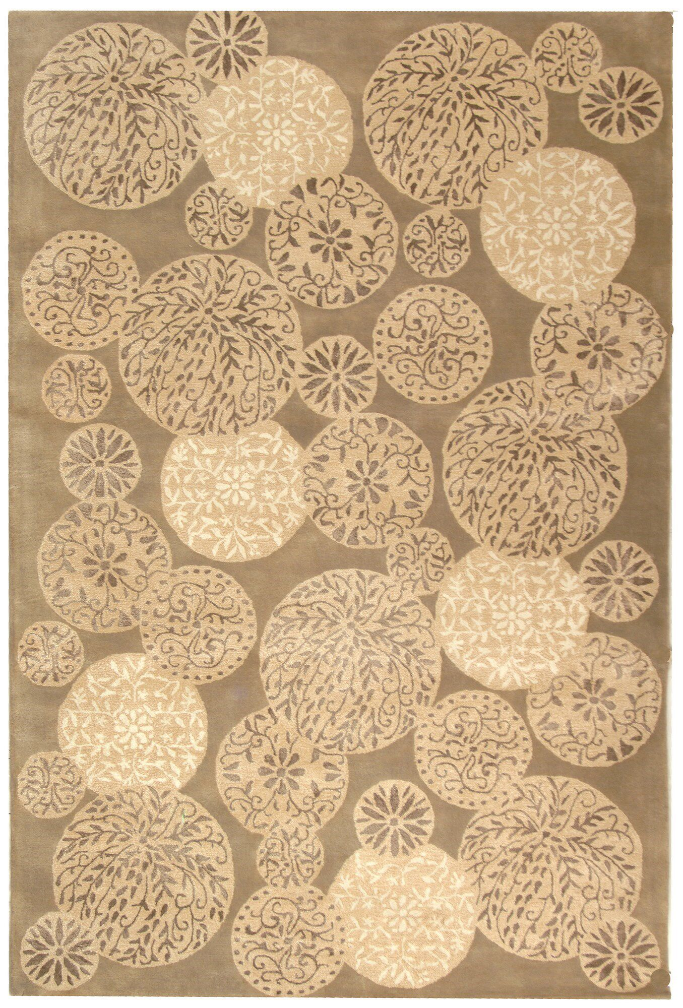 Sunny Hand Tufted Wool Parchment Area Rug Rug Size: Rectangle 7'9