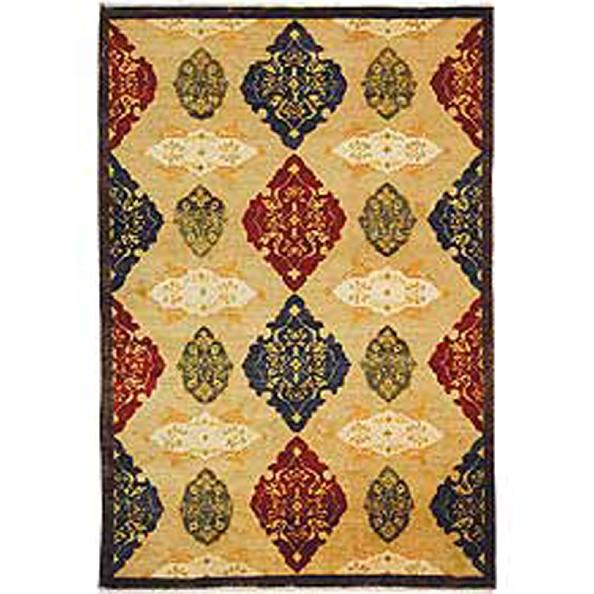 Dietz Tibetan Hand Knotted Wool Beige Area Rug Rug Size: Rectangle 8' x 10'