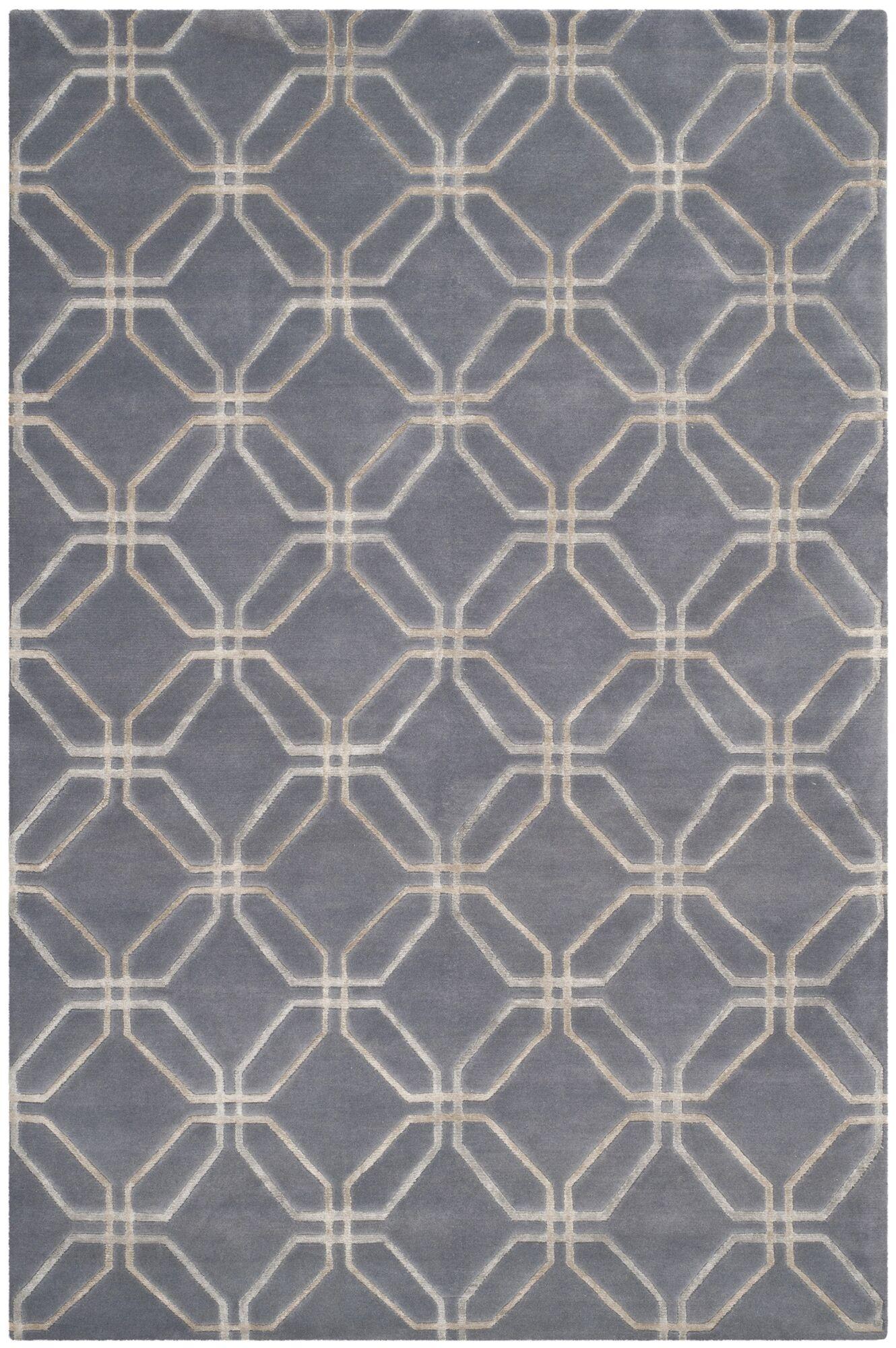 Slate Geometric Rug Rug Size: Rectangle 9' x 12'