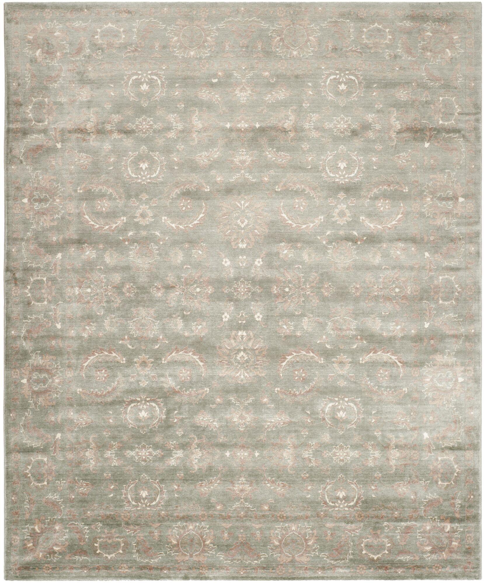Prades Tibetan Hand Loomed Dark Gray/Ivory Area Rug Rug Size: Rectangle 8' x 10'