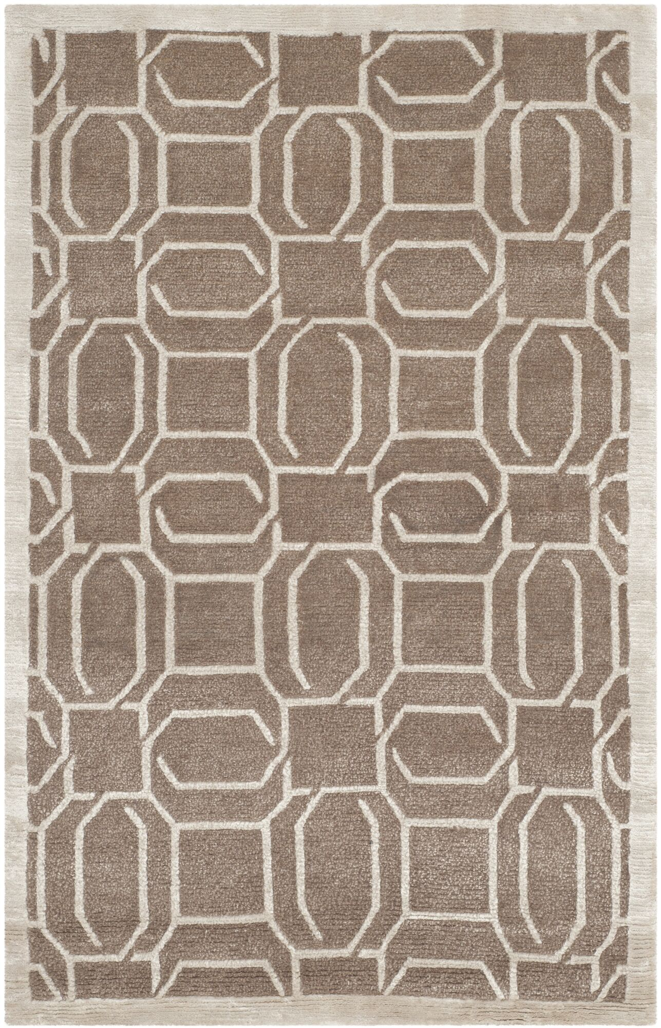 Hudnall Hand-Knotted Camel Area Rug Rug Size: Rectangle 2' x 3'
