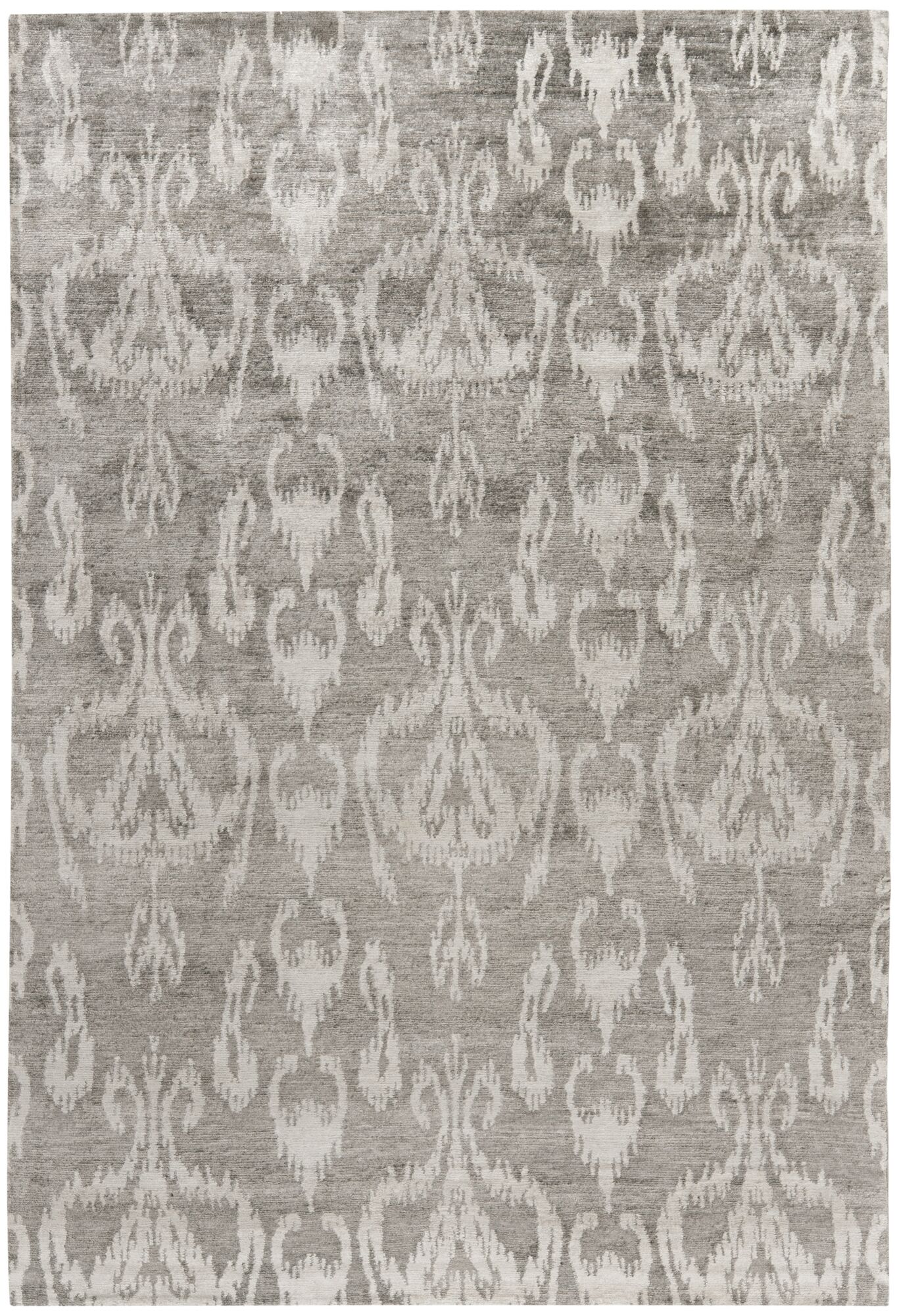 Wildhollow Tibetan Hand Knotted Gray Area Rug Rug Size: Rectangle 8' x 10'