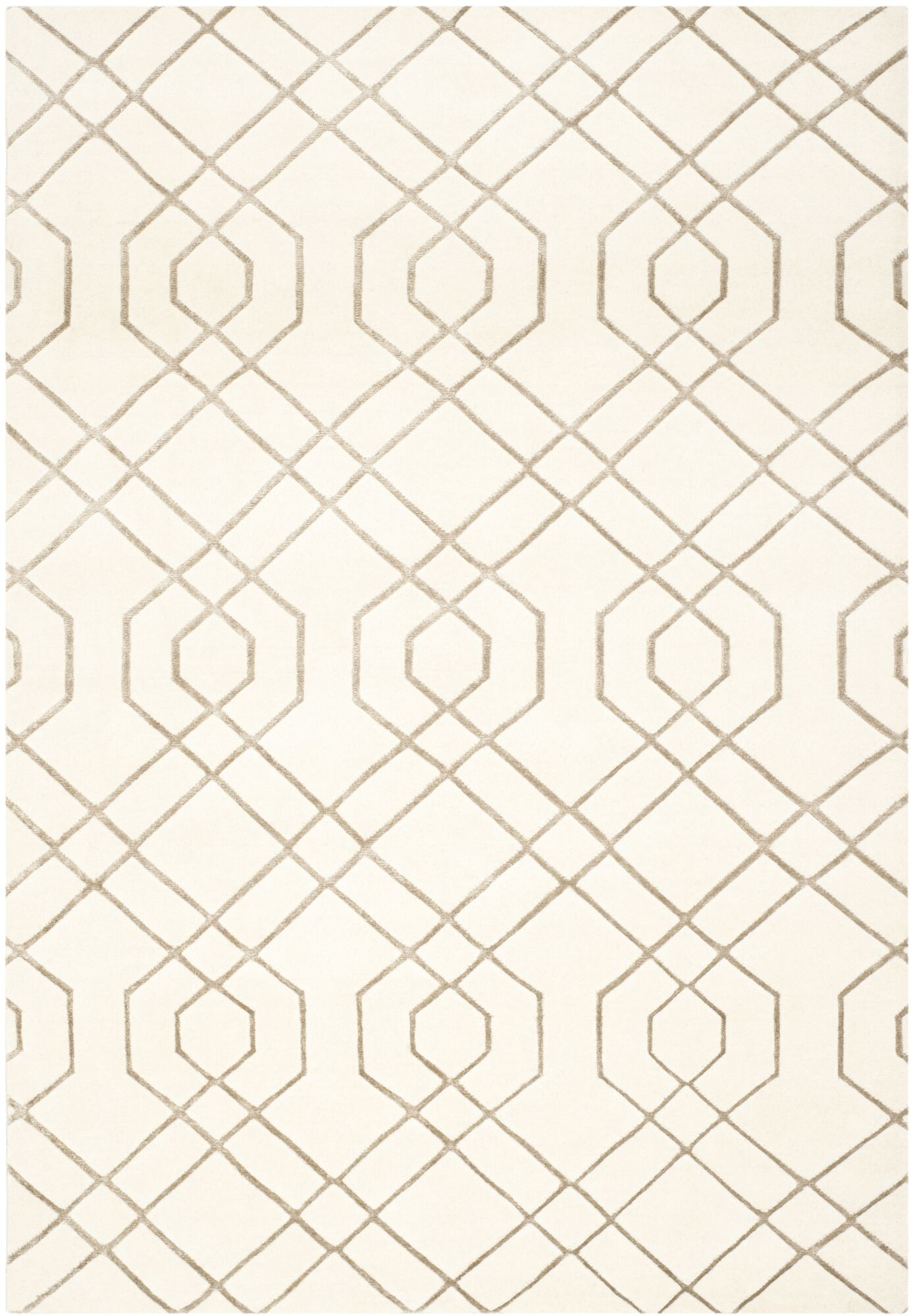 Paramkusham Tibetan Hand Knotted Wool White Area Rug Rug Size: Rectangle 10' x 14'
