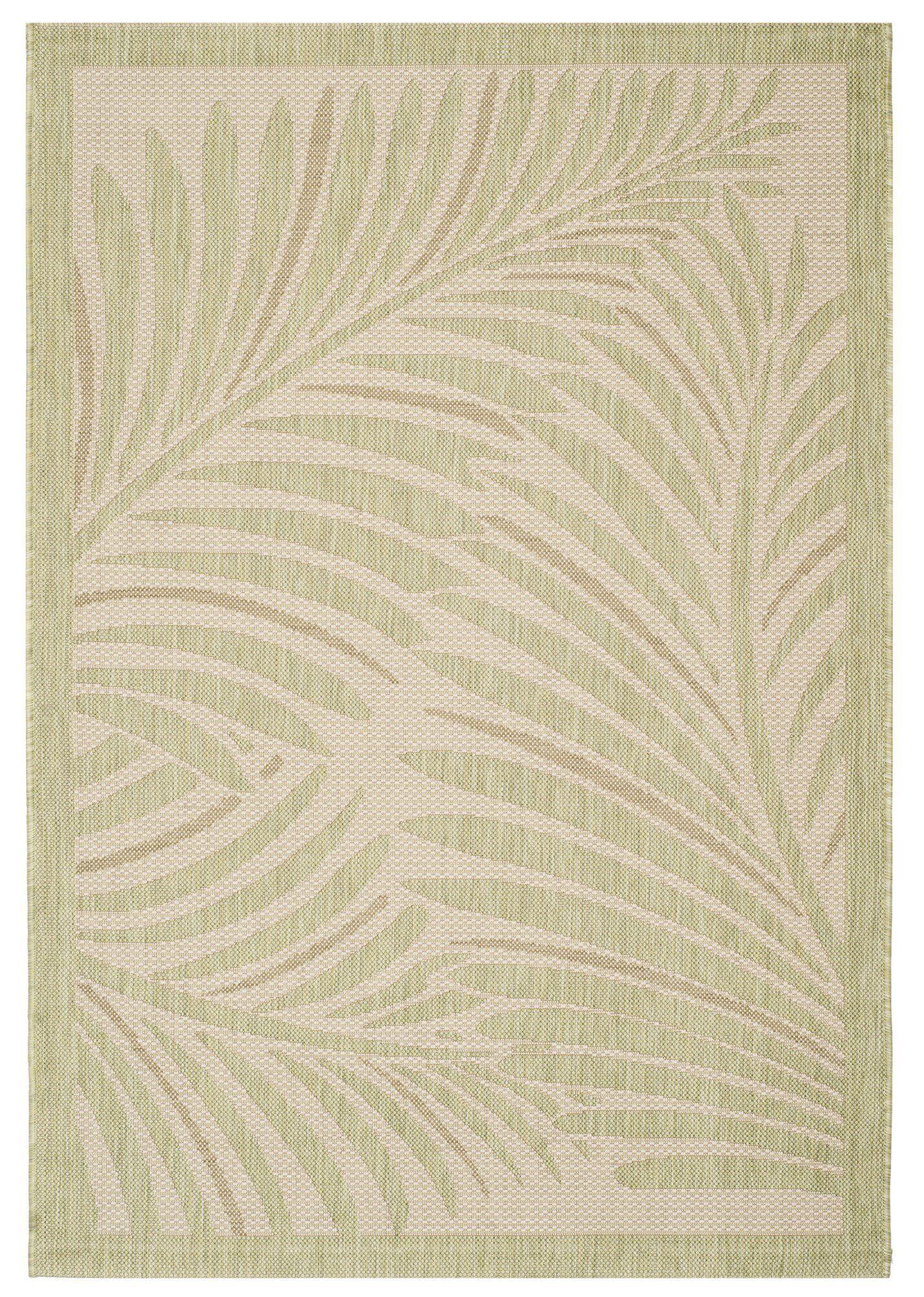 Bridgeville Tropic Palm Tan Area Rug Rug Size: Rectangle 4' x 5'7