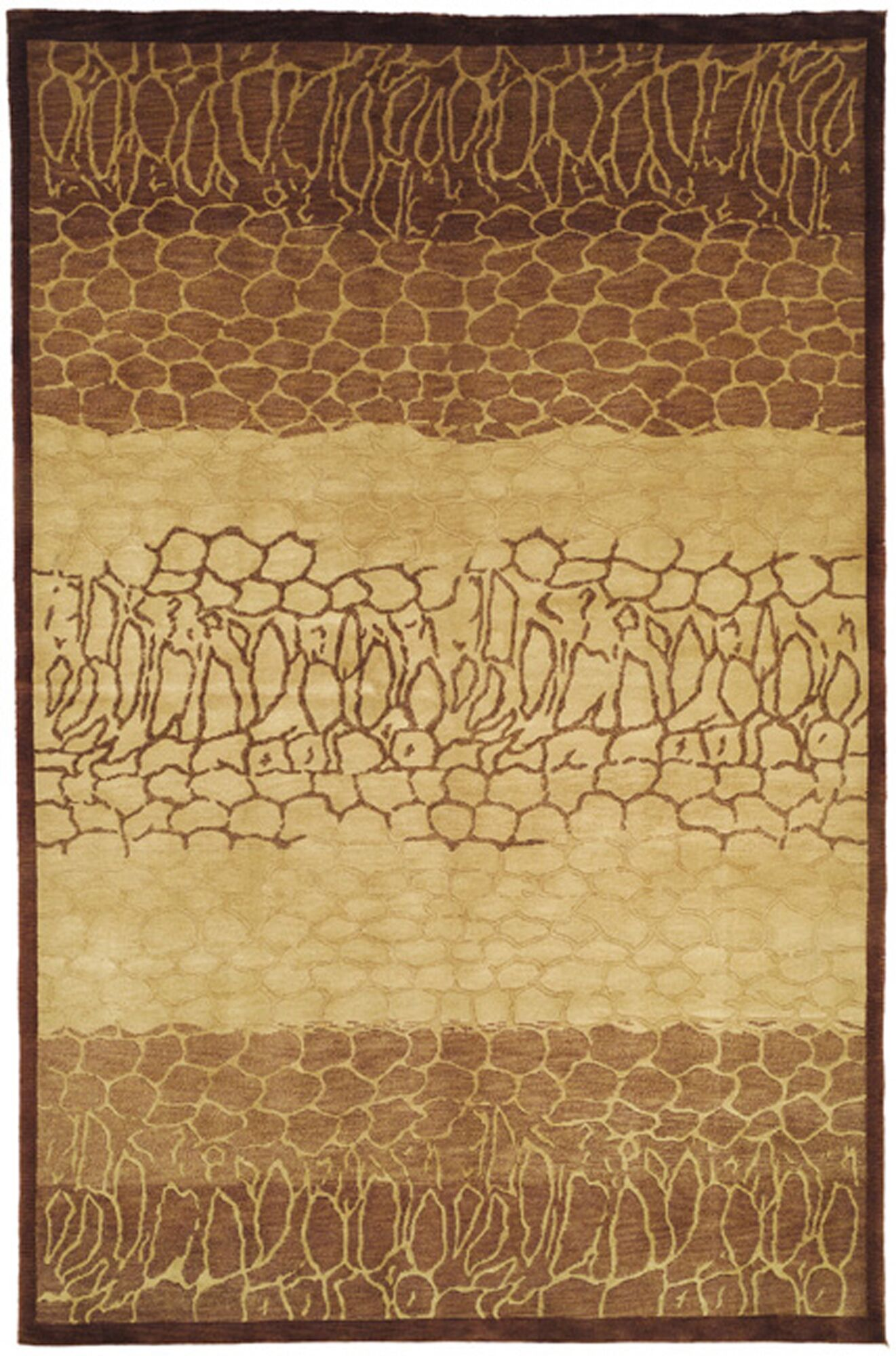Youmans Tibetan Hand Knotted Wool Beige/Brown Area Rug Rug Size: Rectangle 4' x 6'