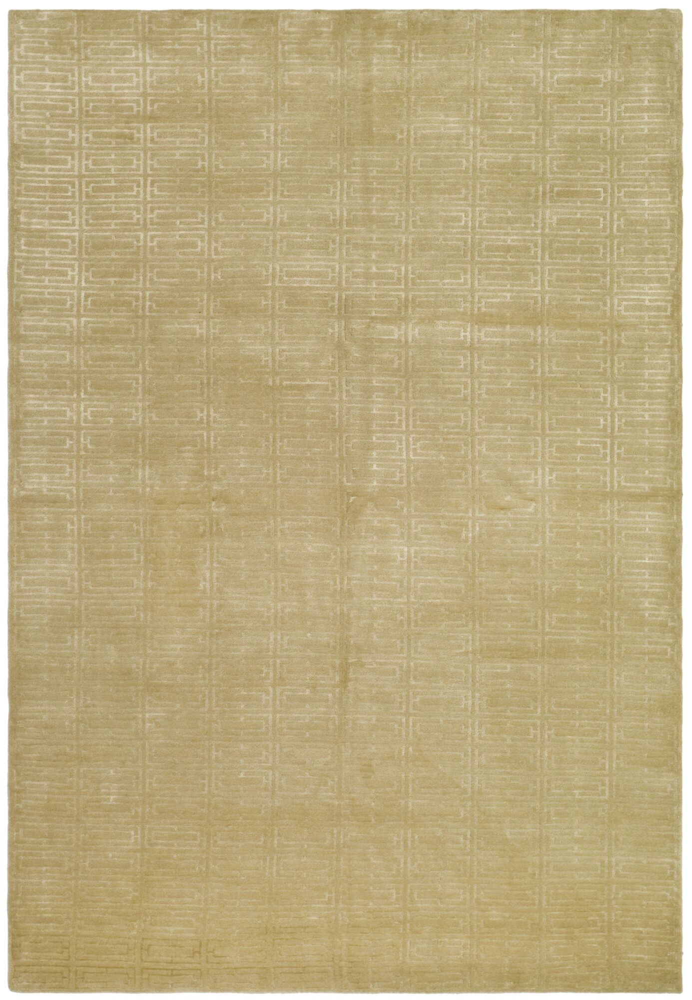 Paramkusham Tibetan Hand Knotted Beige Area Rug Rug Size: Rectangle 10' x 14'