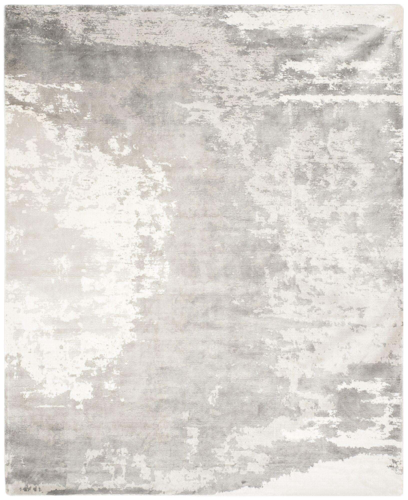Wildhollow Tibetan Hand Loomed Silver/Ivory Area Rug