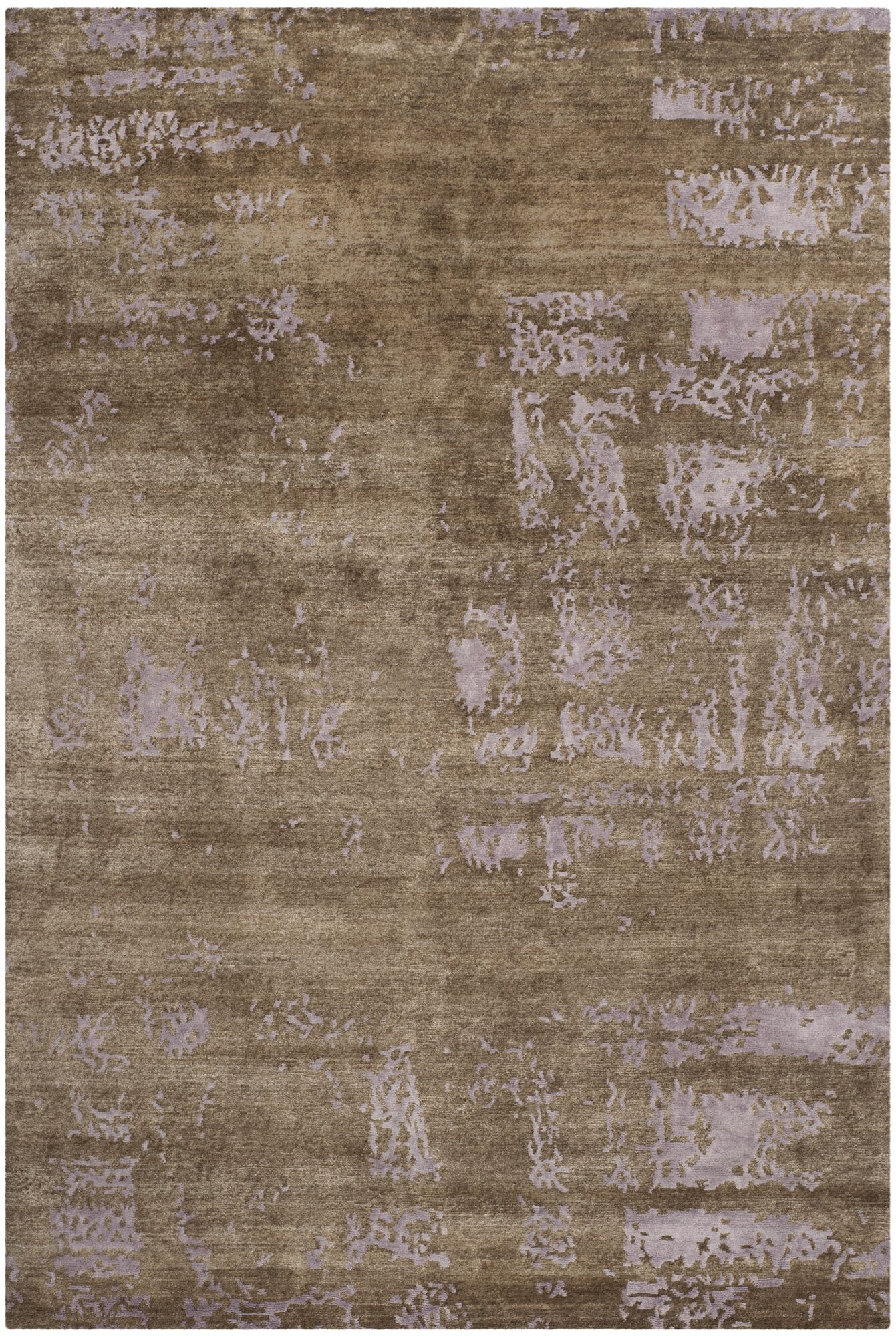 Elrod Tibetan Hand Knotted Purple Area Rug Rug Size: Rectangle 6' x 9''