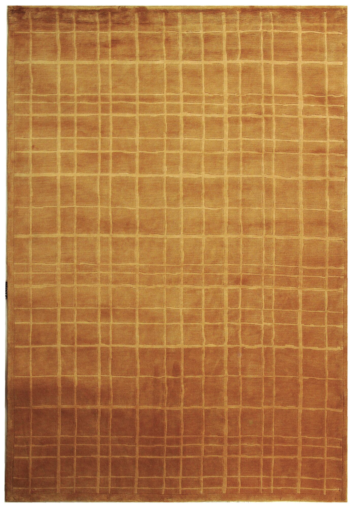 Dille Tibetan Hand Knotted Wool Rust Area Rug Rug Size: Rectangle 9' x 12'