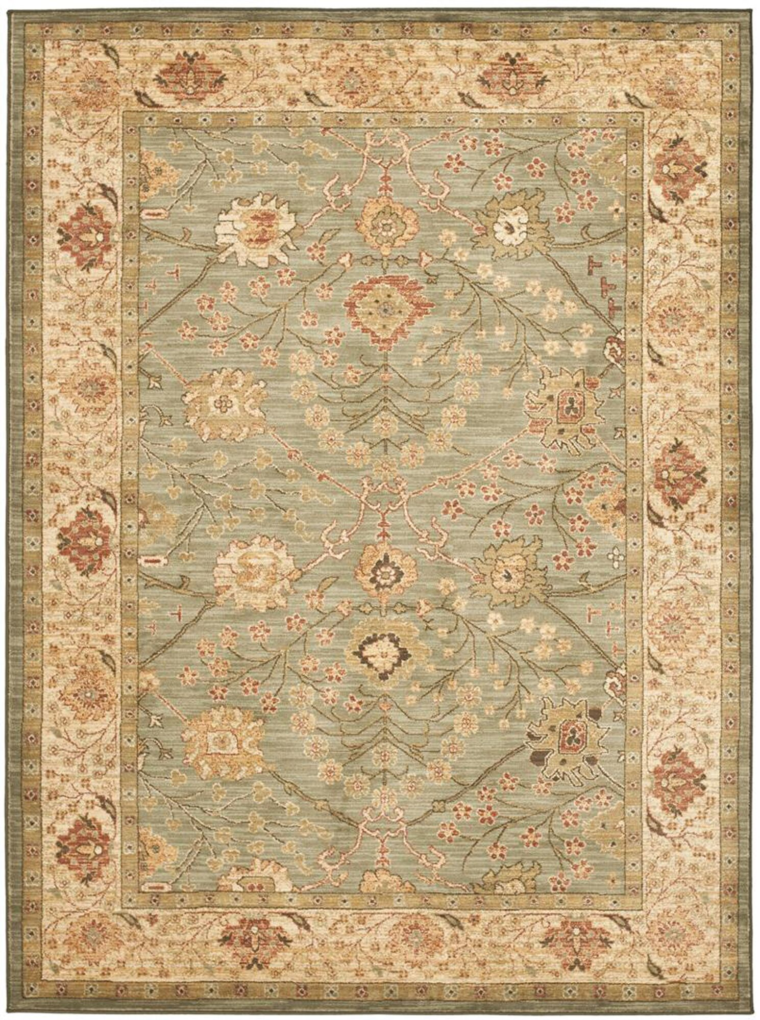 Oushak Beige Area Rug Rug Size: Rectangle 8' x 11.1'