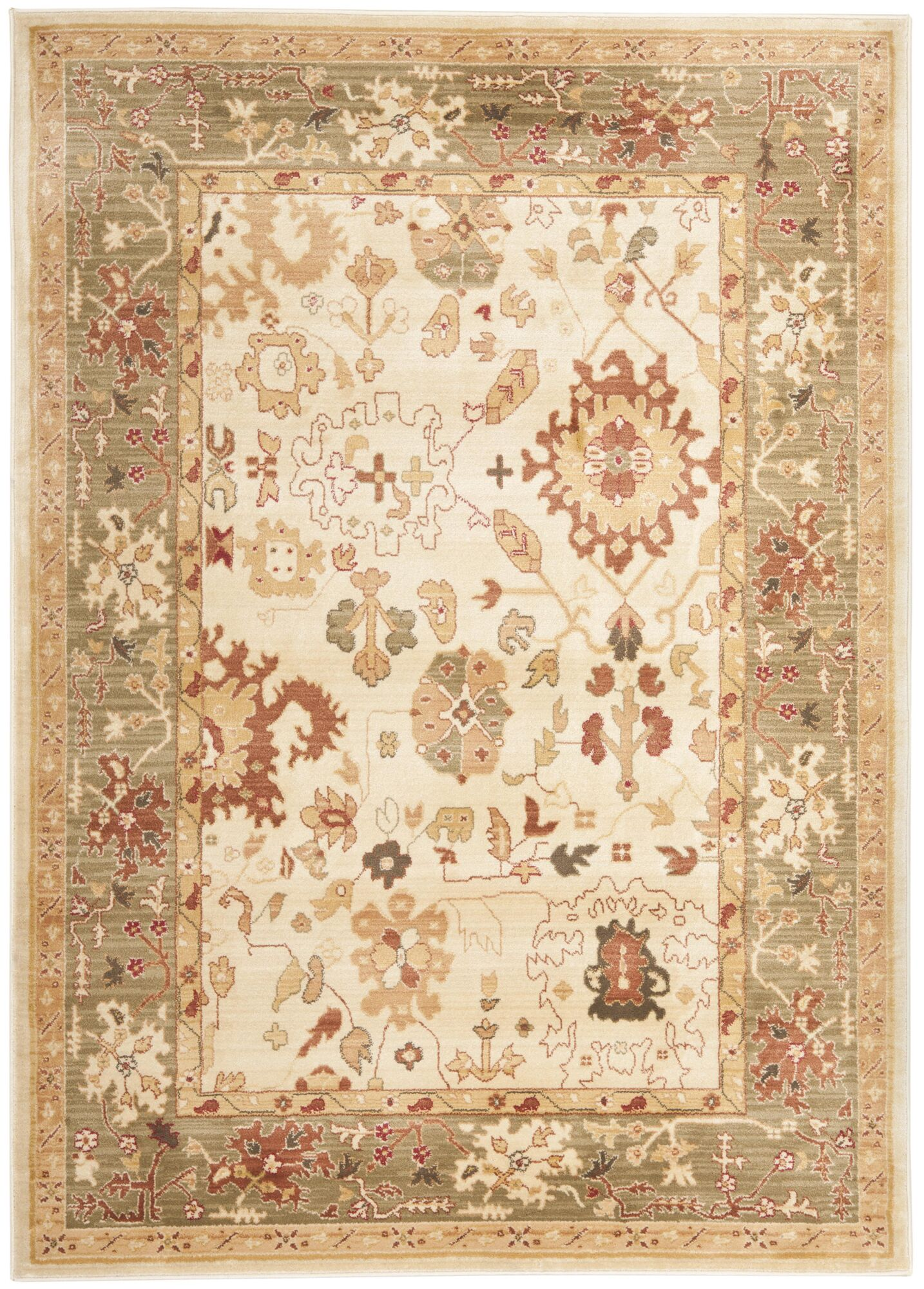 Brice Cream Area Rug Rug Size: Rectangle 8' x 11'