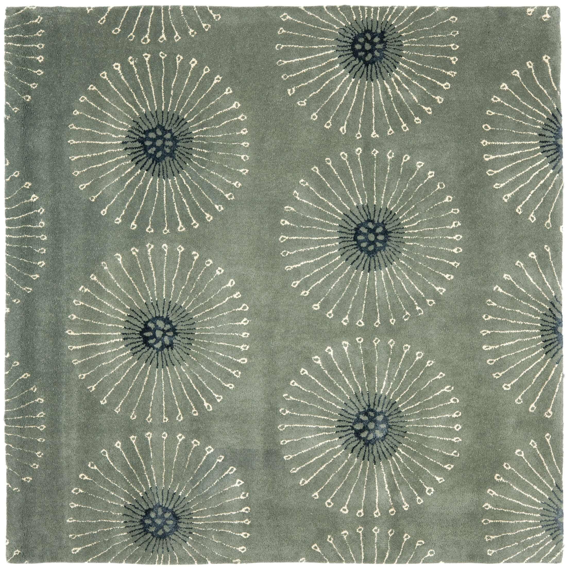 Lockwood Gray/Ivory Area Rug Rug Size: Square 6'