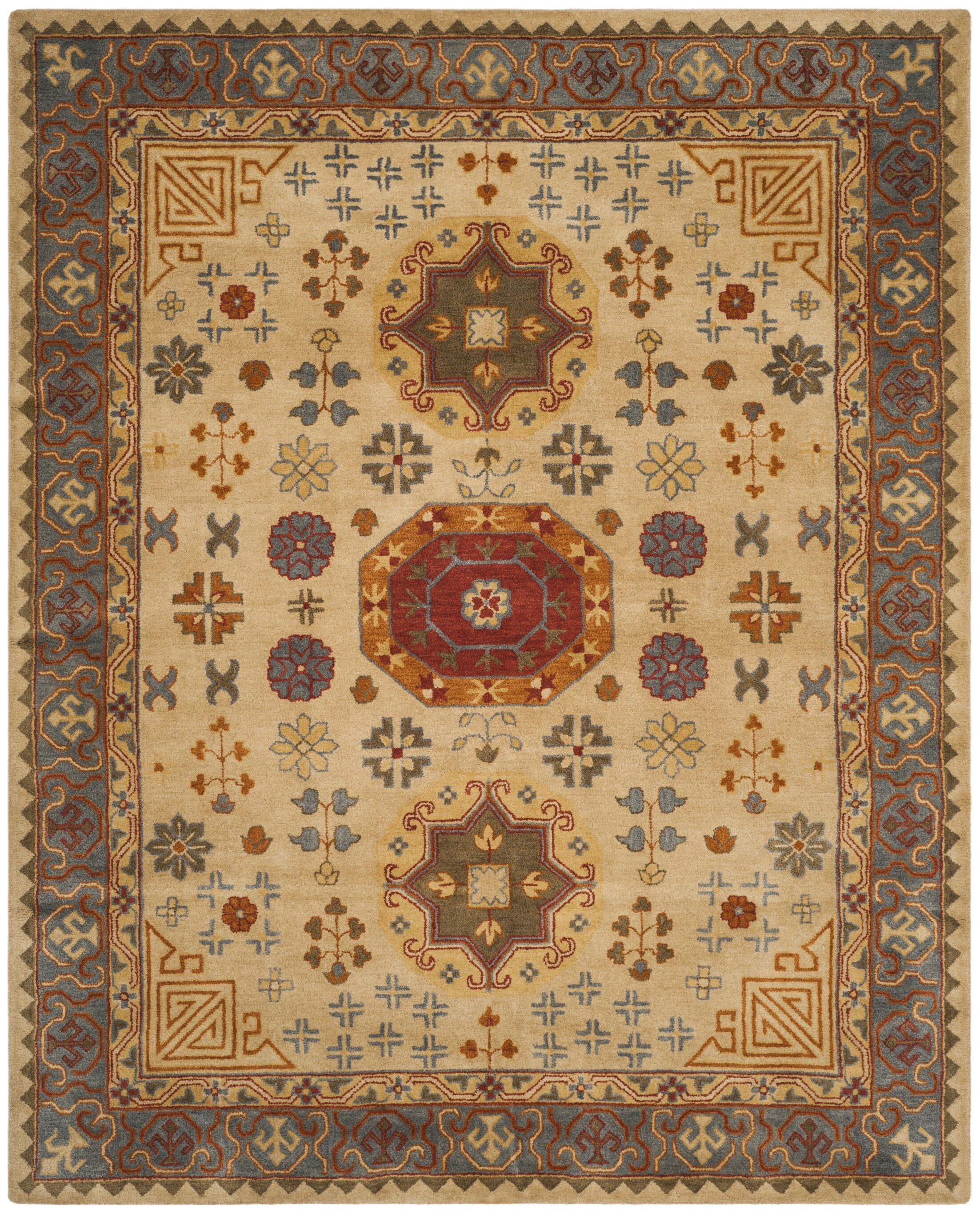 Cranmore Hand-Tufted Beige/Brown Area Rug Rug Size: Rectangle 8' x 10'