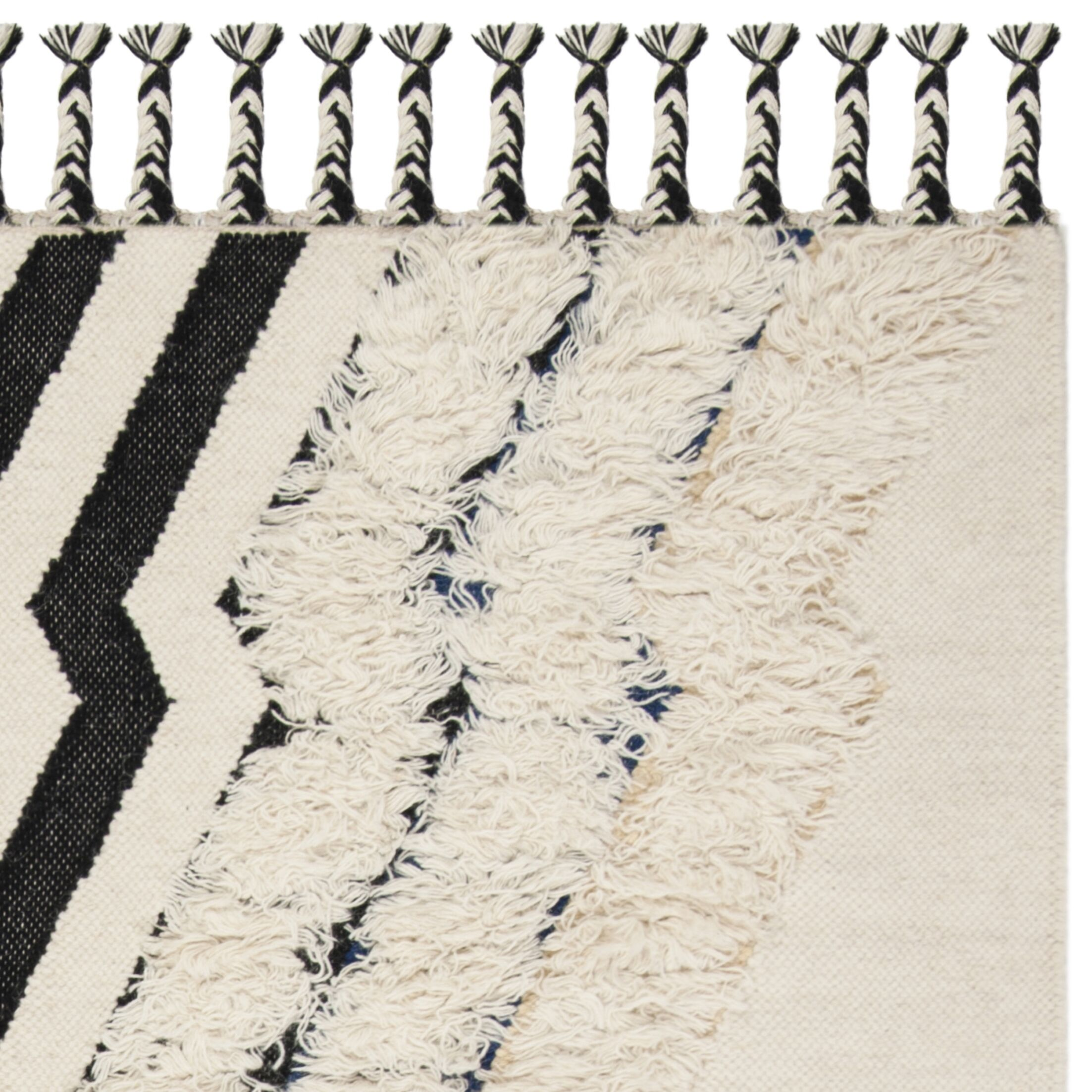 Lizette Hand Knotted Wool Ivory Area Rug Rug Size: Rectangle 9' x 12'