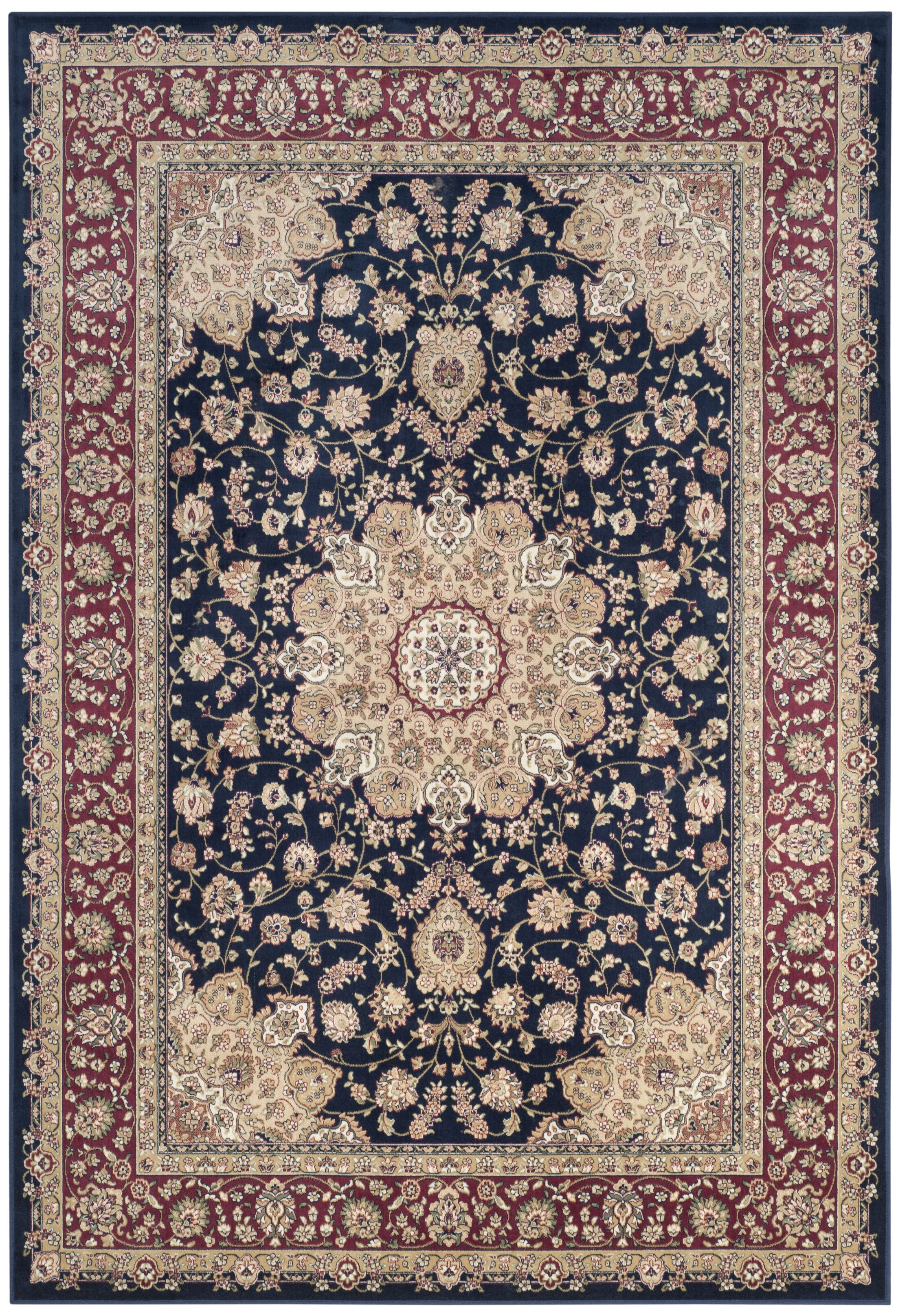 Carolus Red/Navy Area Rug Rug Size: Rectangle 8' x 11'6