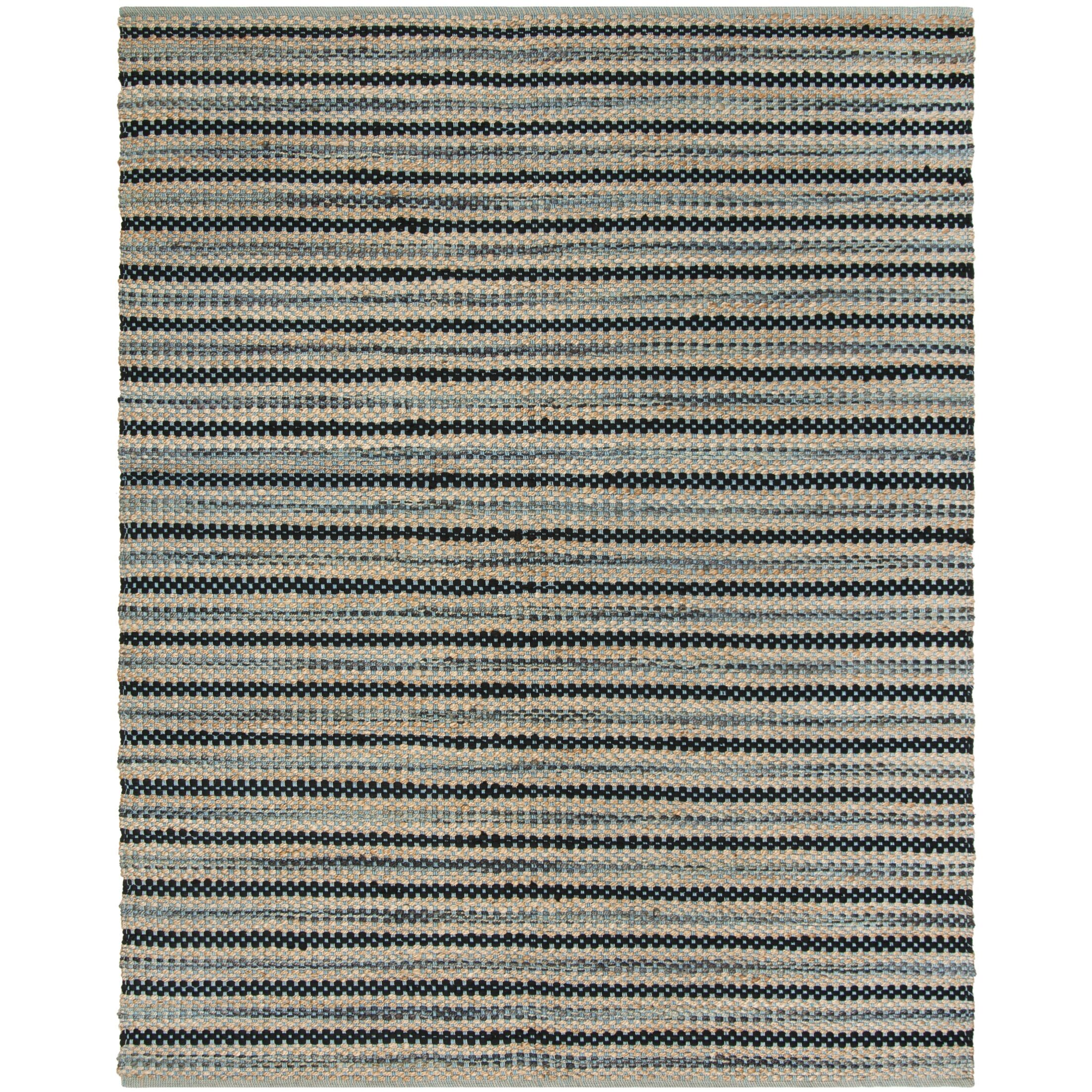 Abhay Hand Woven Blue/Black Area Rug Rug Size: Rectangle 8' x 10'