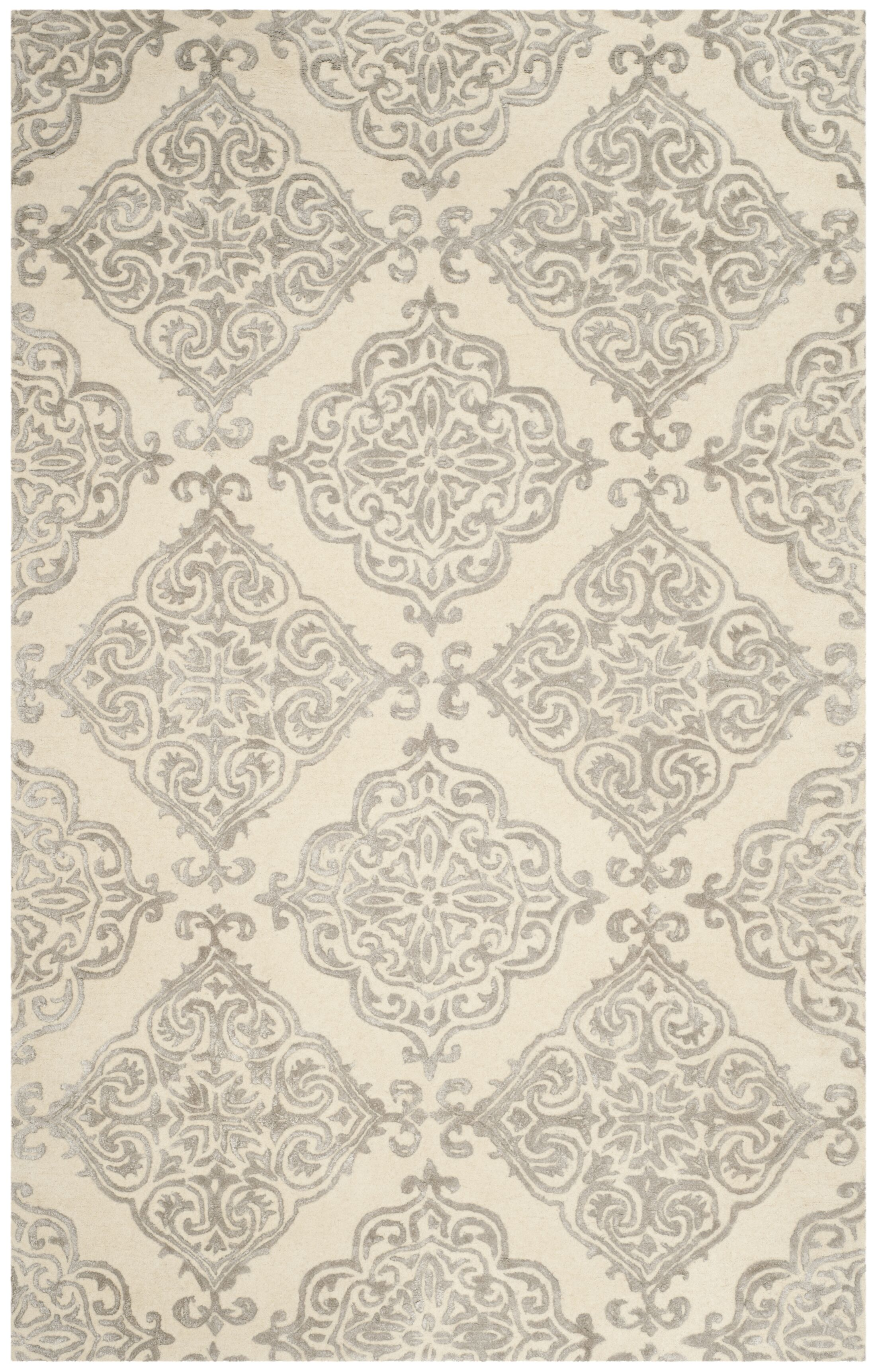 Bernon Hand Tufted Ivory Area Rug Rug Size: Rectangle 4' x 6'