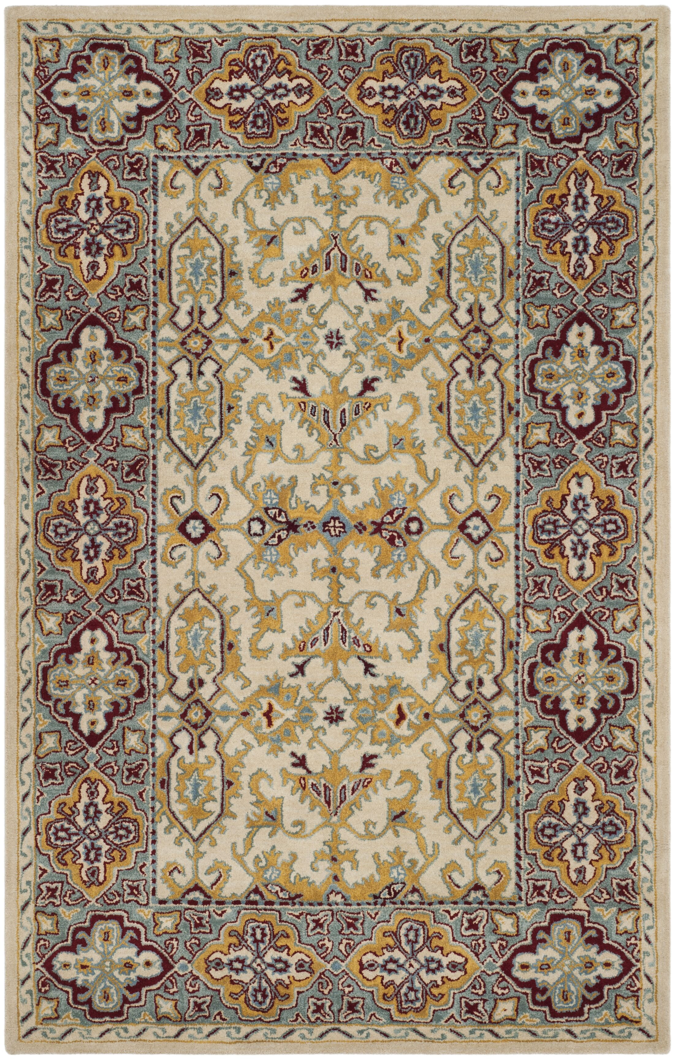 Moss Hand Tufted Wool Ivory Area Rug Rug Size: Rectangle 6' x 9'