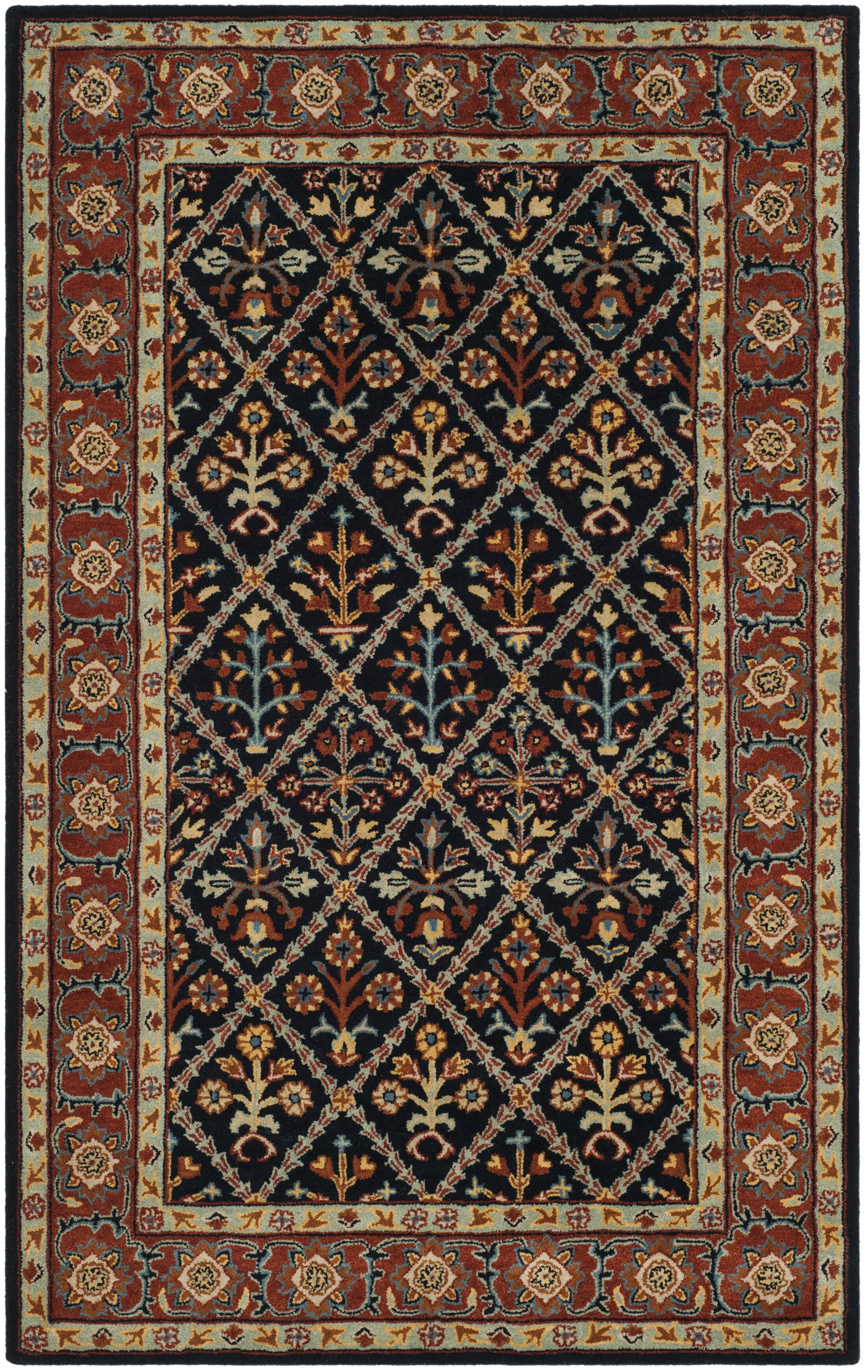 Moss Traditional Hand Tufted Wool Brown Area Rug Rug Size: Rectangle 6' x 9'