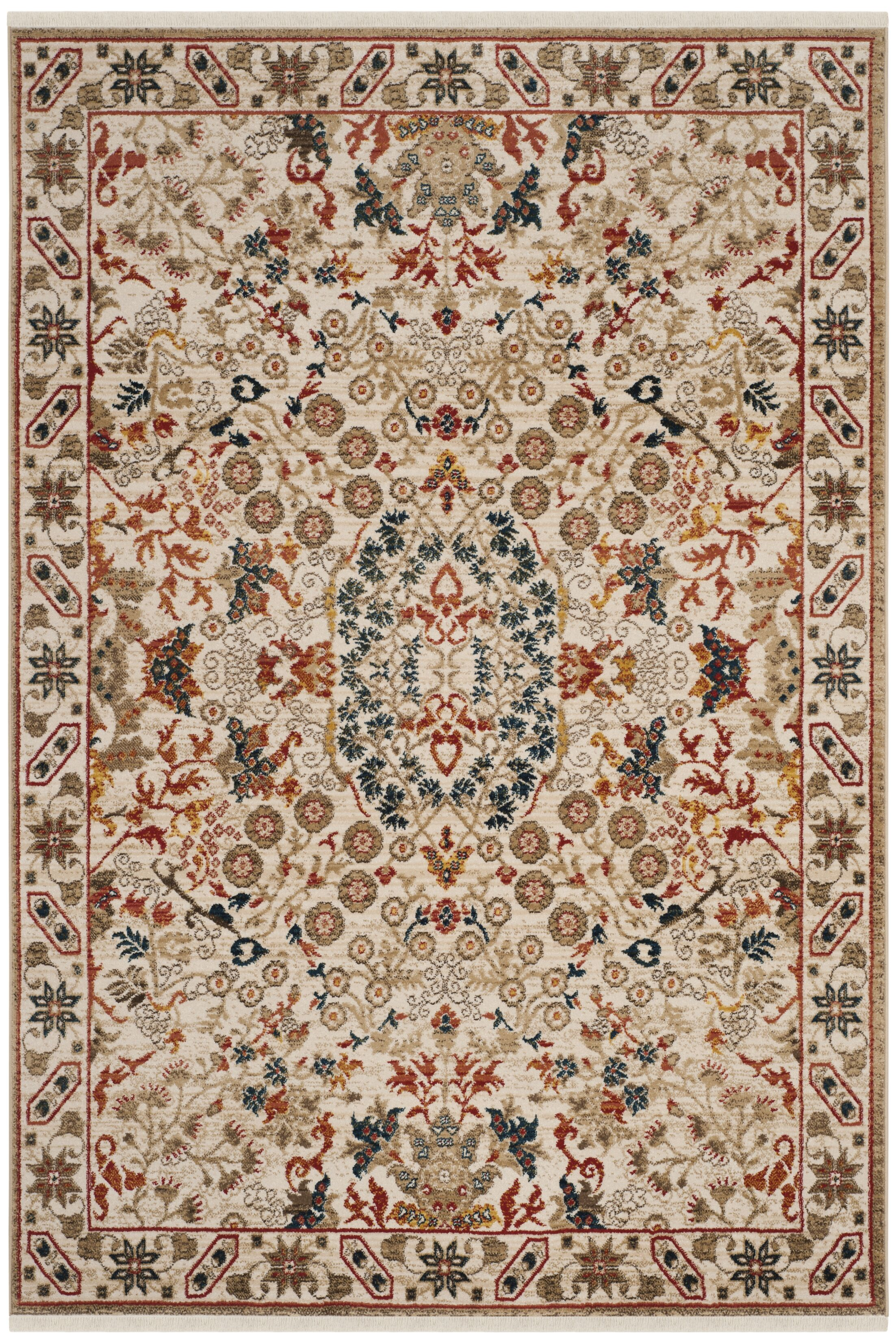 Kurtz Traditional Ivory Area Rug Rug Size: Rectangle 5'1