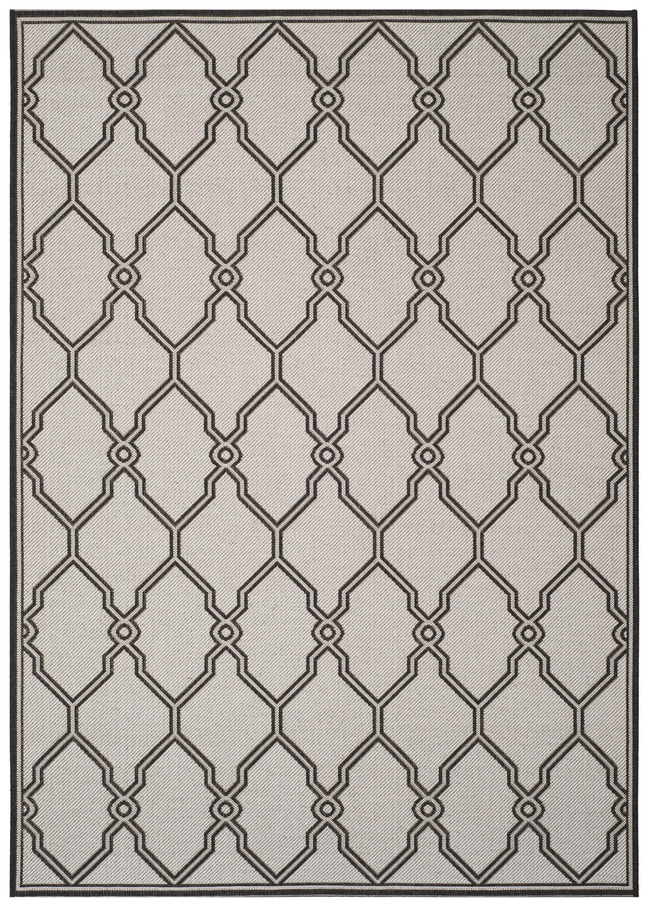 Miesha Contemporary Light Gray Area Rug Rug Size: Rectangle 5'1
