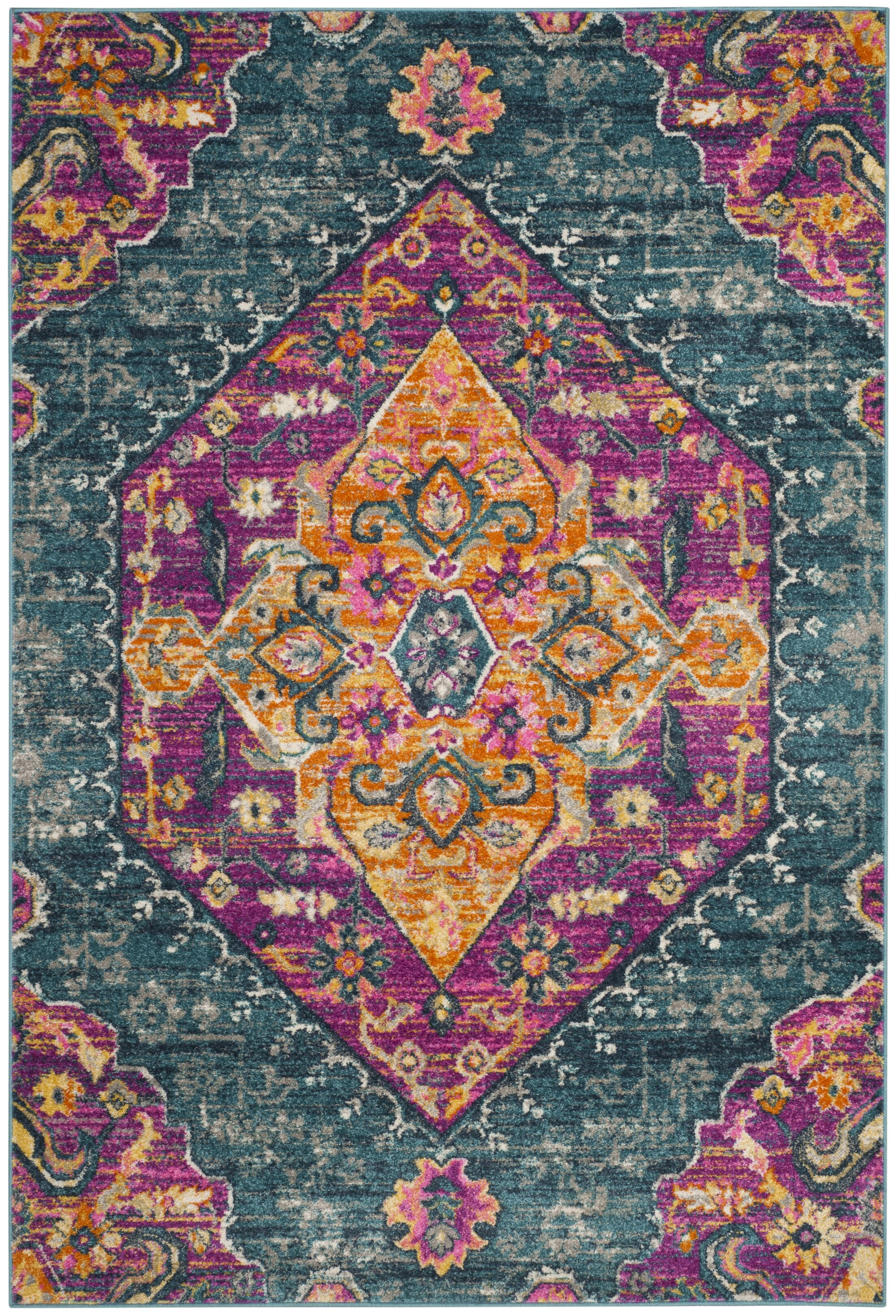 Esparza Orange Area Rug Rug Size: Rectangle 6' x 9'