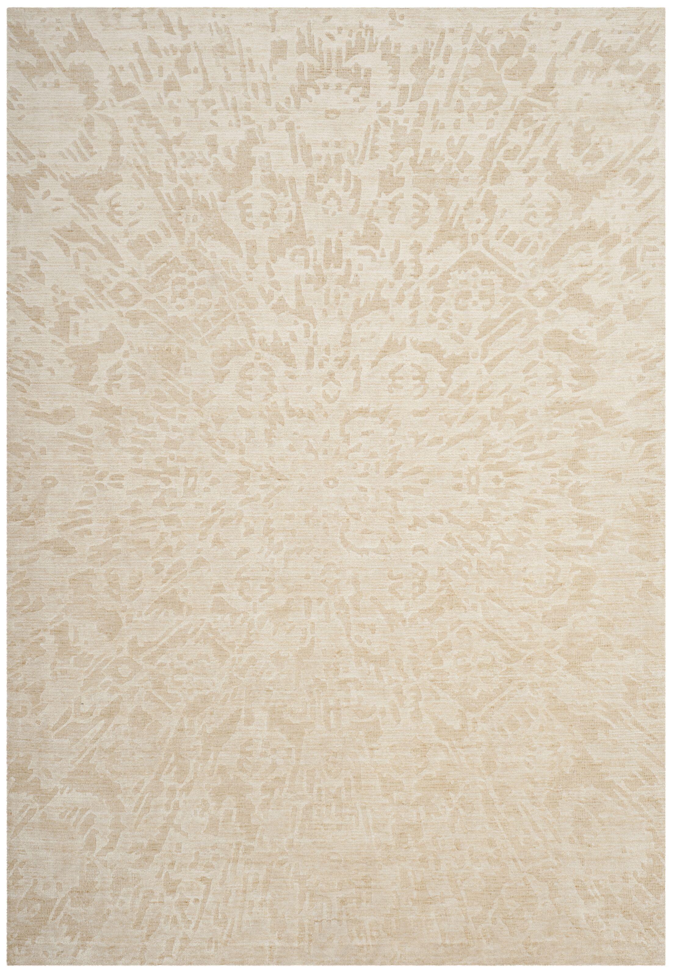 Juhi Hand Tufted Beige Area Rug Rug Size: Rectangle 5' x 8'