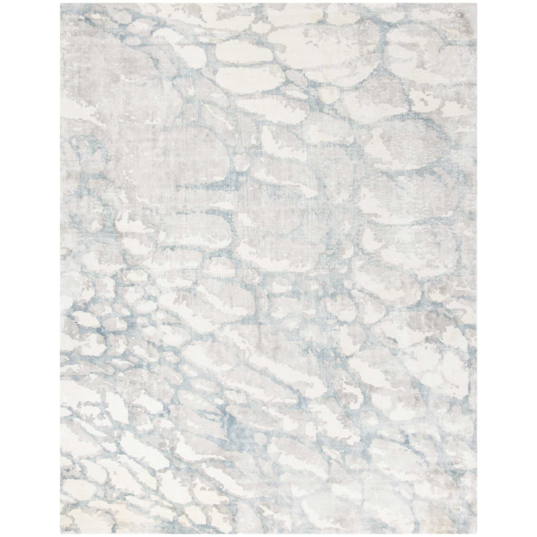Wynkoop Hand Tufted Turquoise/Gray Area Rug Rug Size: Rectangle 8' x 10'