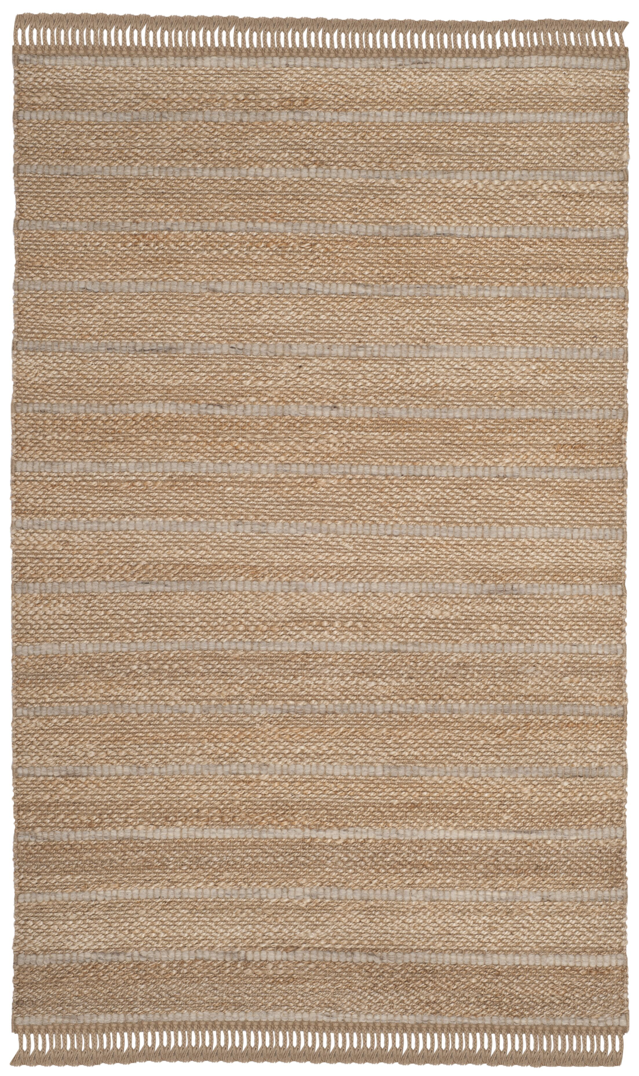 Lawtey Fiber Hand Woven Beige Area Rug  Rug Size: Rectangle 4' x 6'