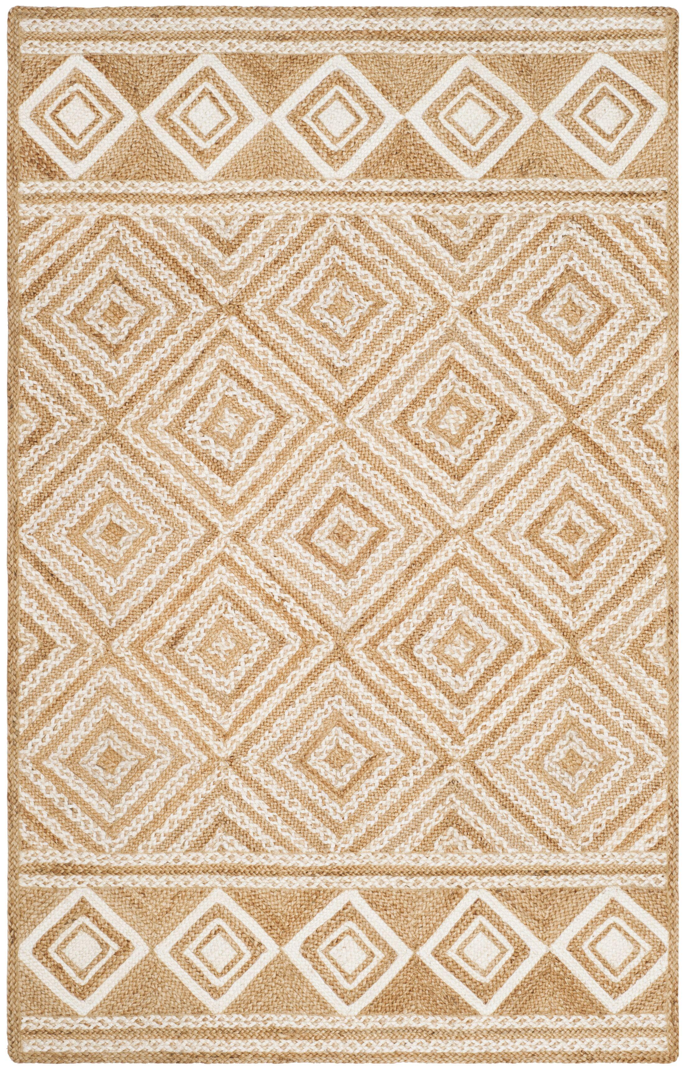 San Castle Natural Fiber Hand Woven Ivory Area Rug Rug Size: Square 6'