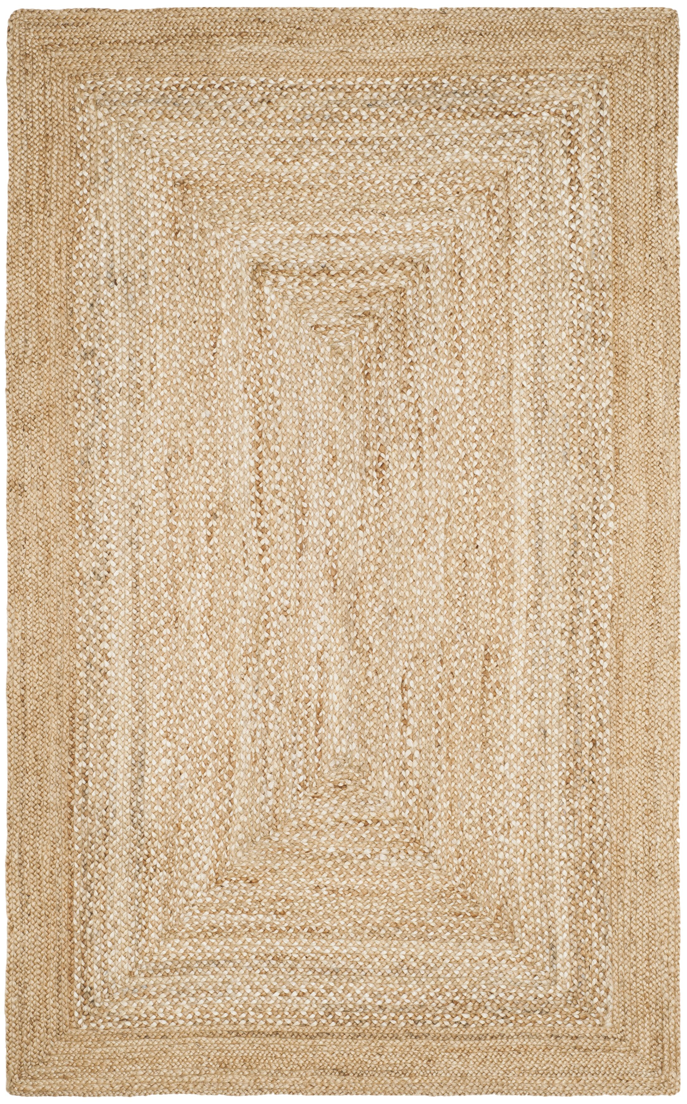Marie Natural Fiber Hand Hooked Natural Area Rug Rug Size: Rectangle 5' x 8'