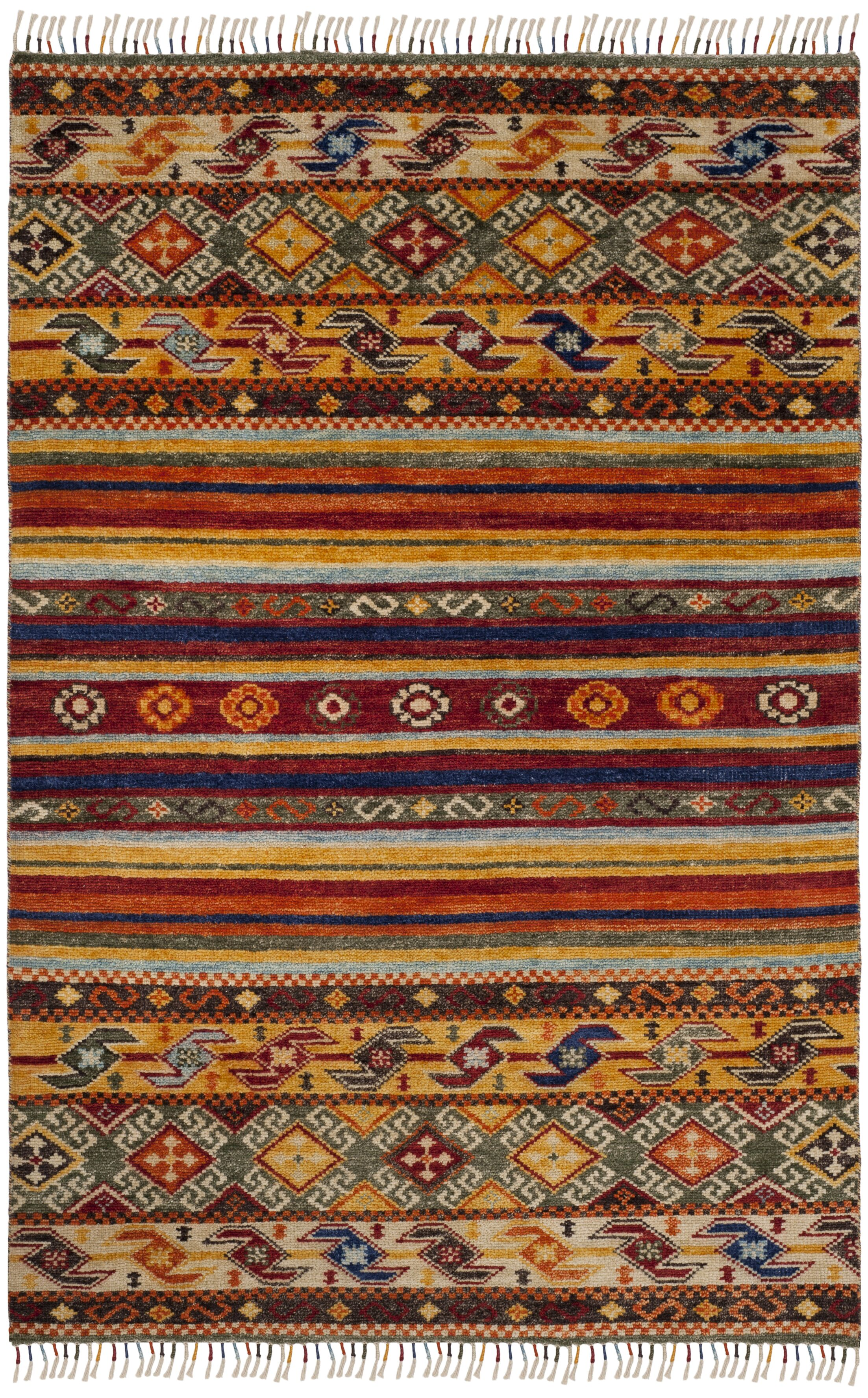 Rockport Hand Knotted Yellow Area Rug  Rug Size: Rectangle 8' x 10'
