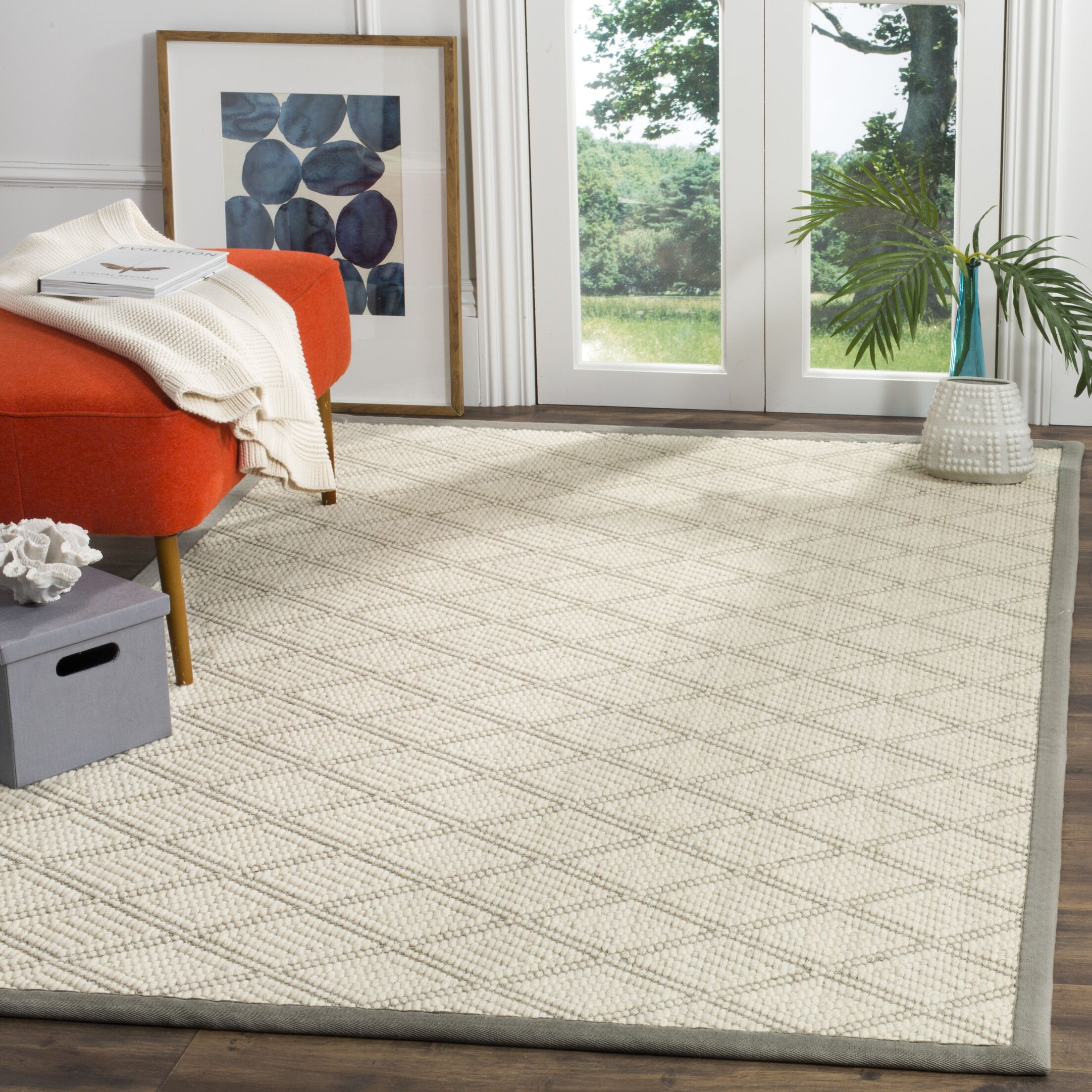Carressa Hand Hooked Cream Area Rug  Rug Size: Rectangle 3' x 5'