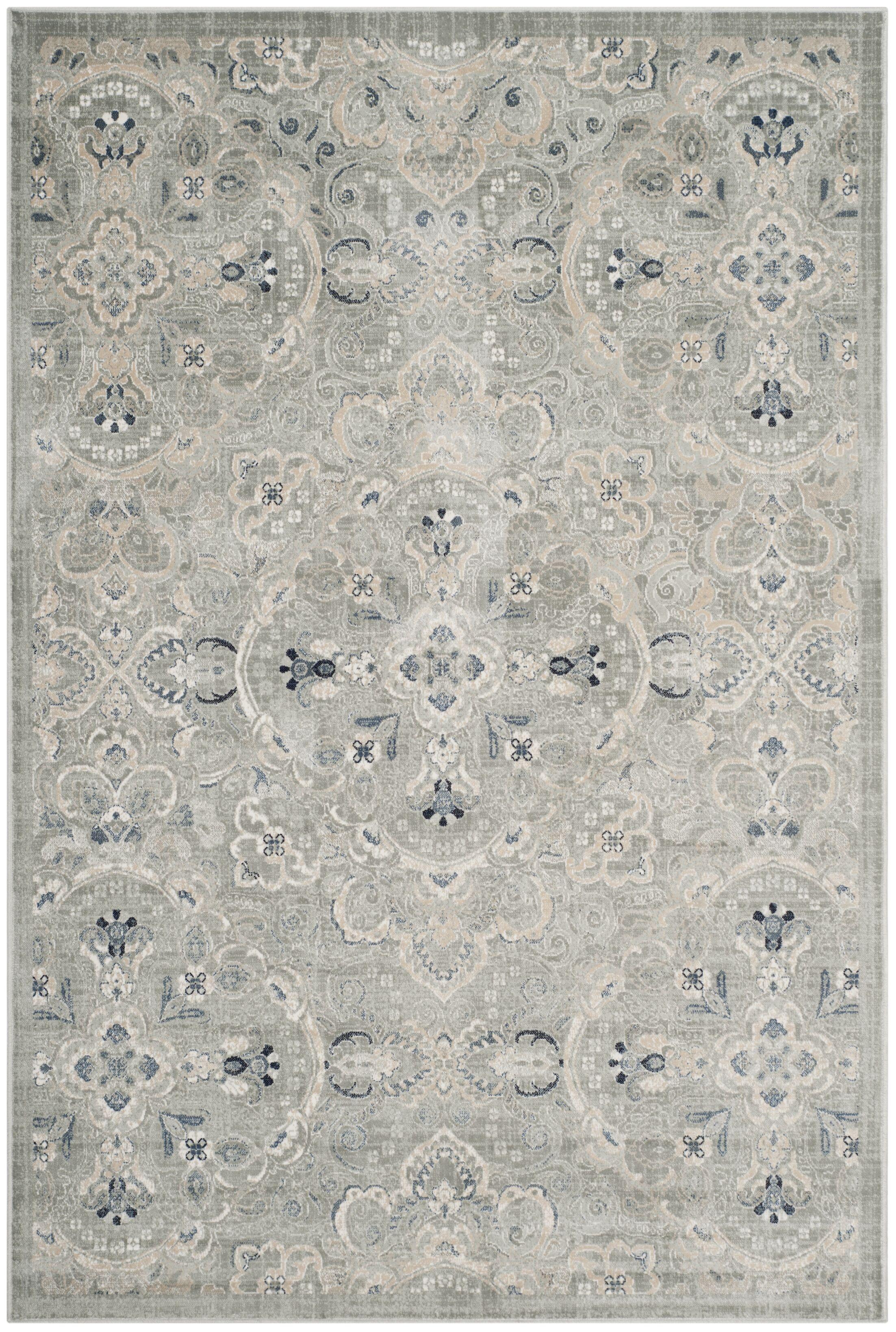 Ediline Gray Area Rug Rug Size: Rectangle 8' x 11'