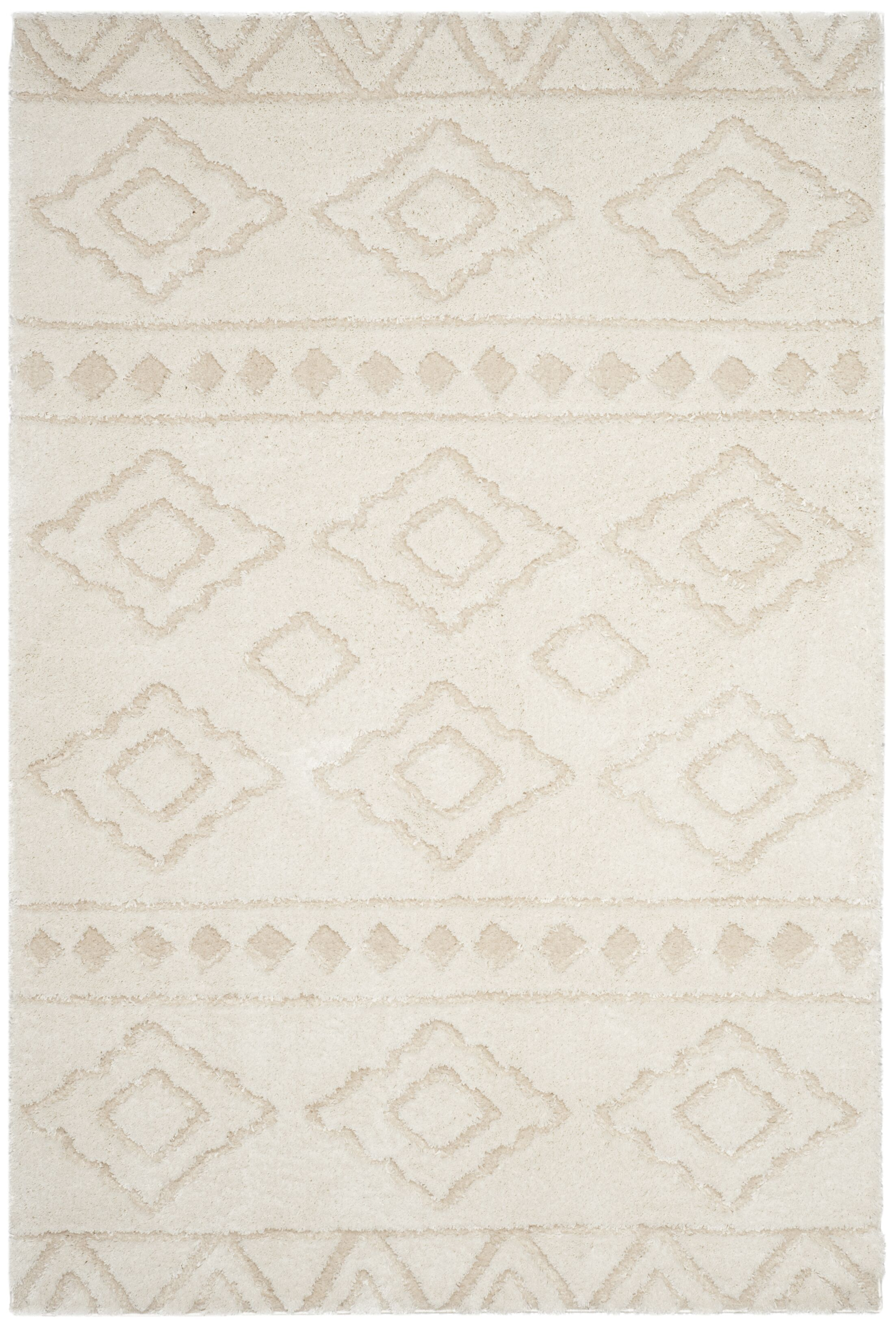Albers Ivory Area Rug Rug Size: Round 6'7