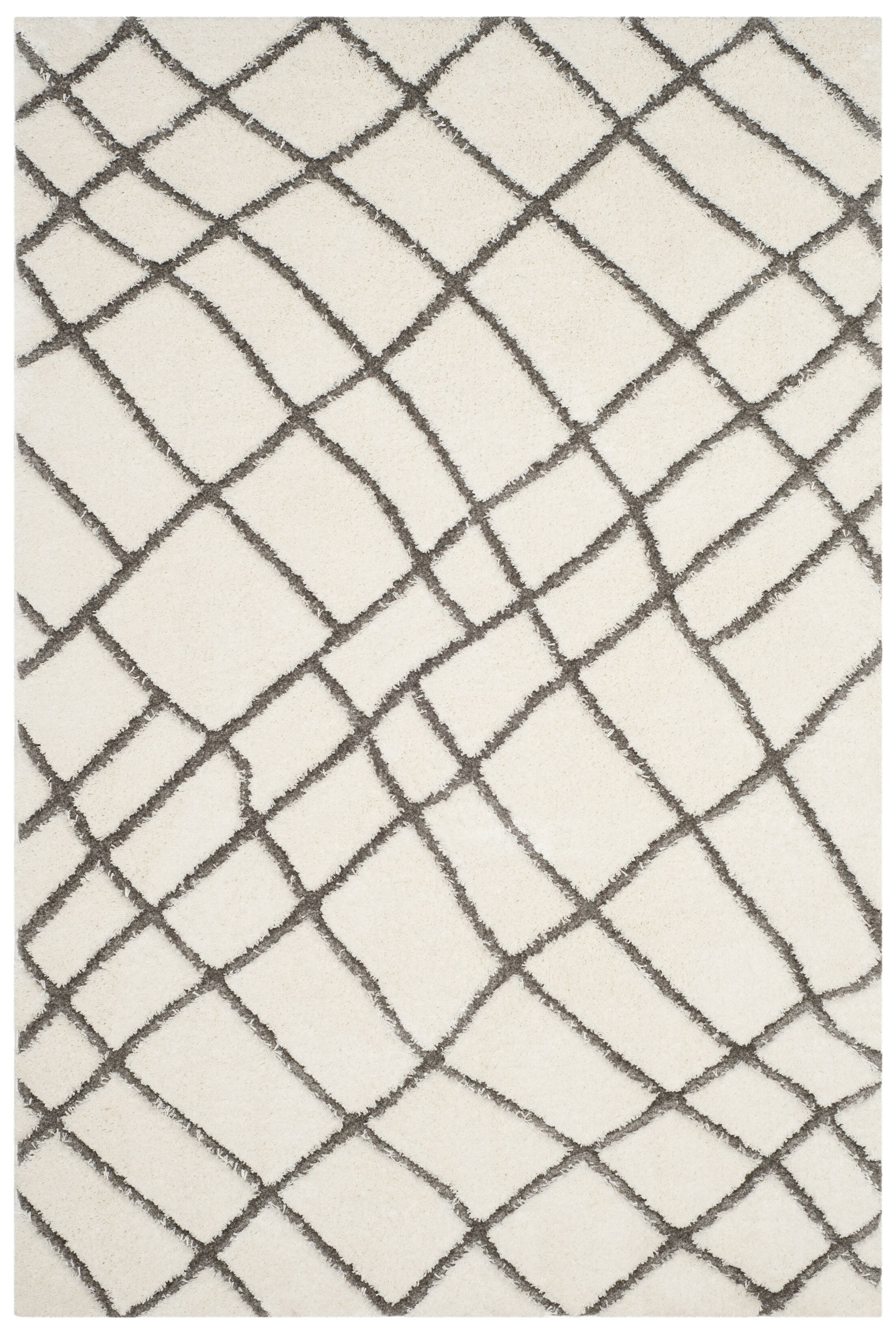 Isair Ivory Area Rug Rug Size: Square 6'7