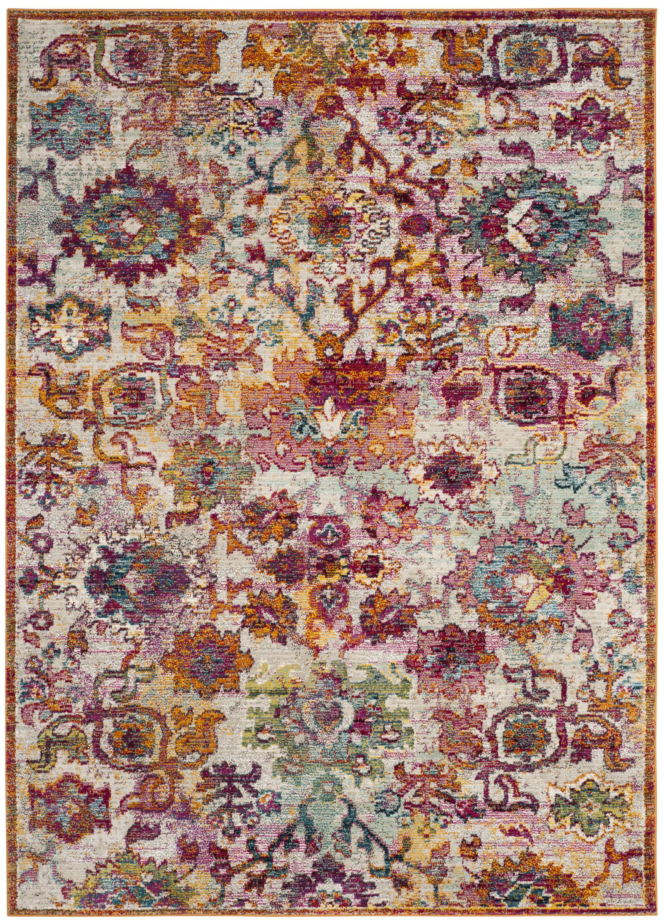 Mcintosh Purple/Orange Area Rug Rug Size: Rectangle 5'1