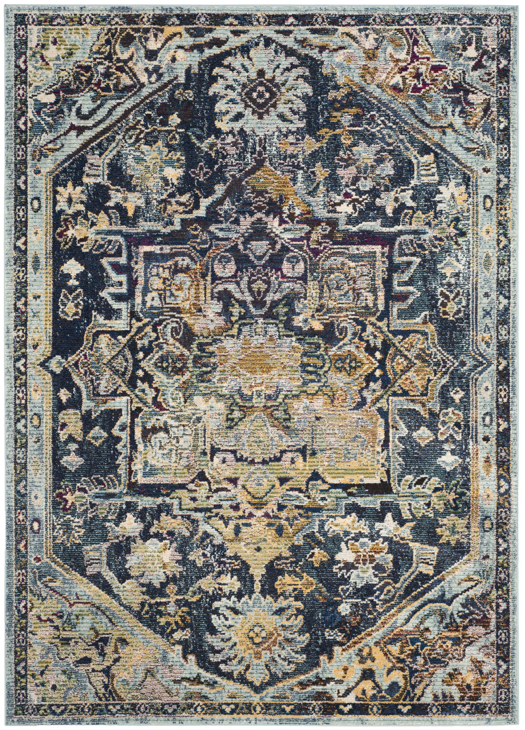 Mcintosh Boho Navy Area Rug  Rug Size: Rectangle 5'1