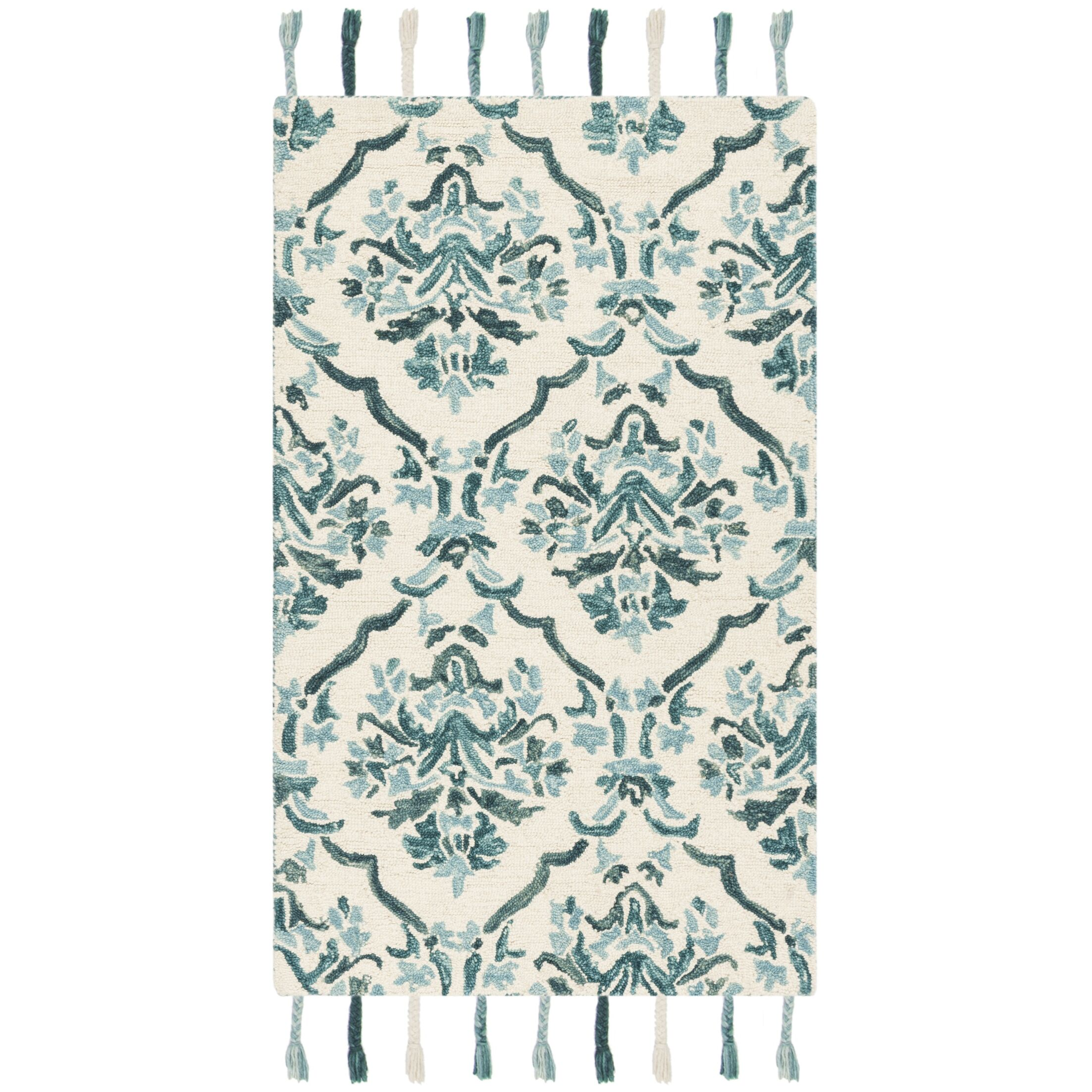 Niederanven Hand Tufted Wool Ivory/Green Area Rug Rug Size: Runner 2'3