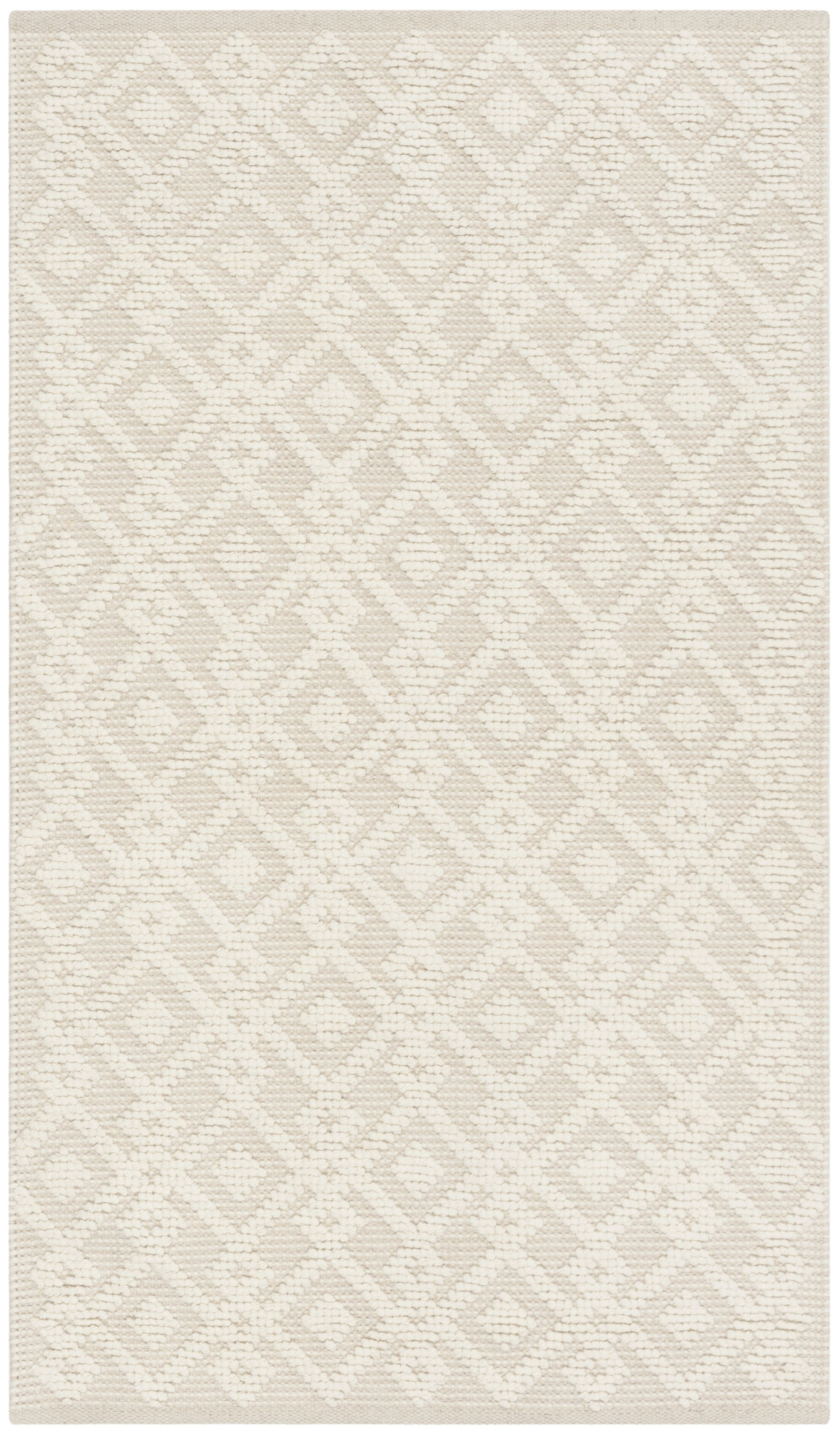 Audrick Hand Tufted Wool Ivory Area Rug Rug Size: Rectangle 5' x 8'