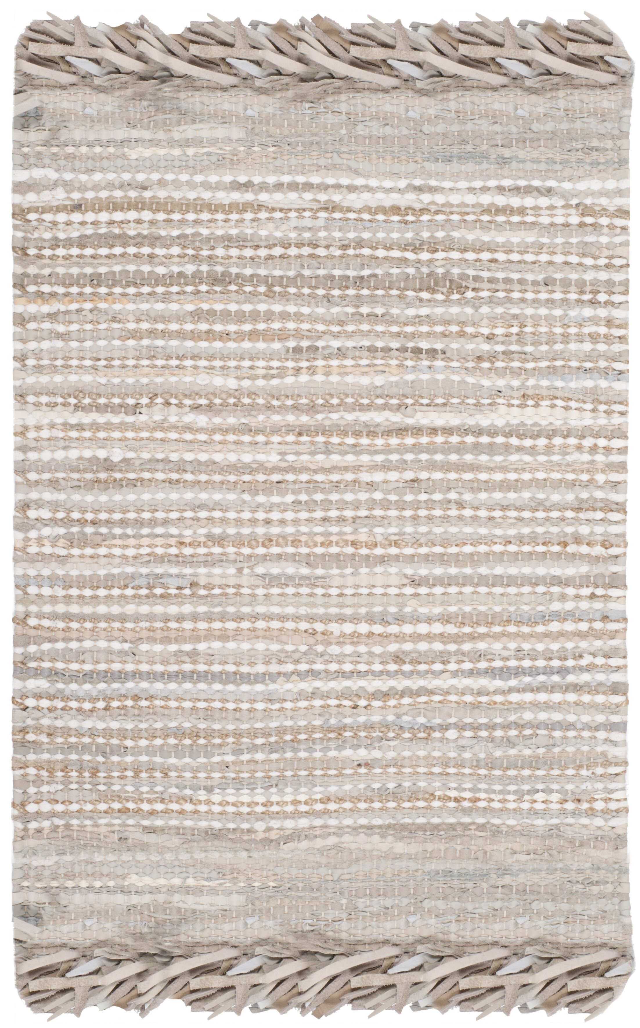 Glostrup Flat Woven Beige Area Rug Rug Size: Rectangle 8' x 10'
